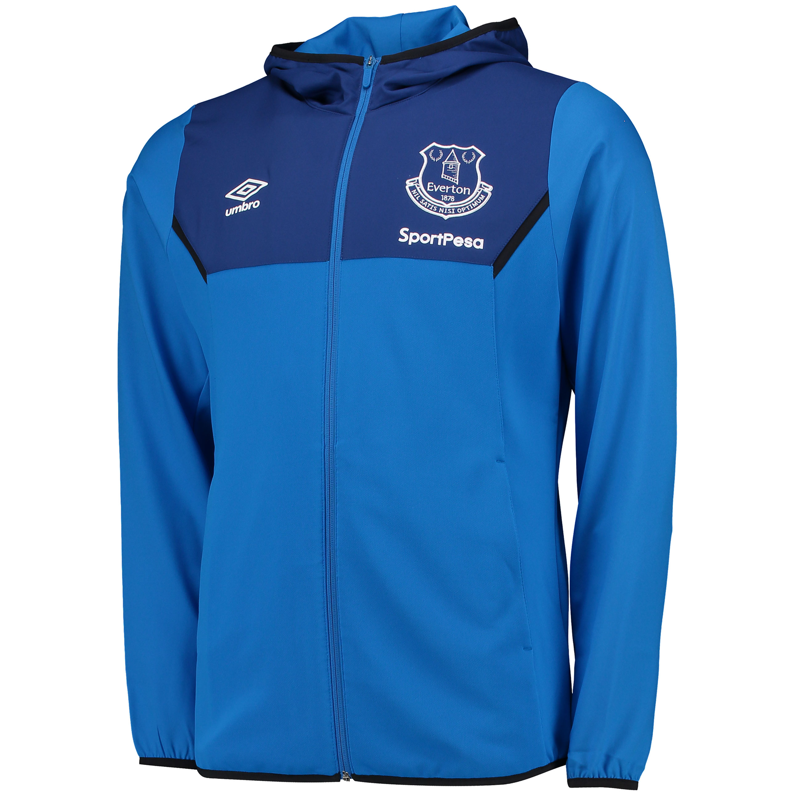 Everton Training Hooded Jacket - Electric Blue/Sodalite Blue