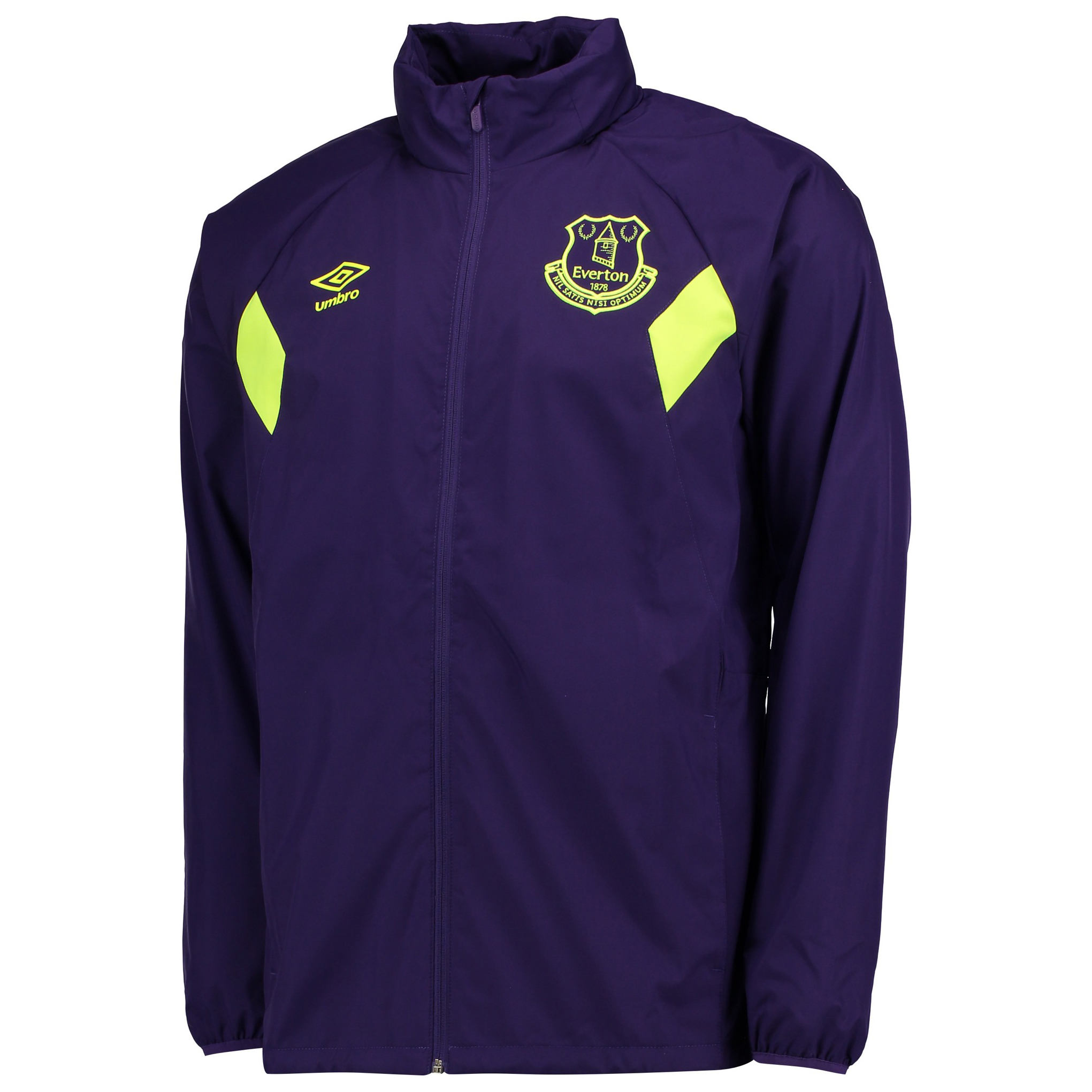 Everton Training Shower Jacket - Parachute Purple/Safety Yellow