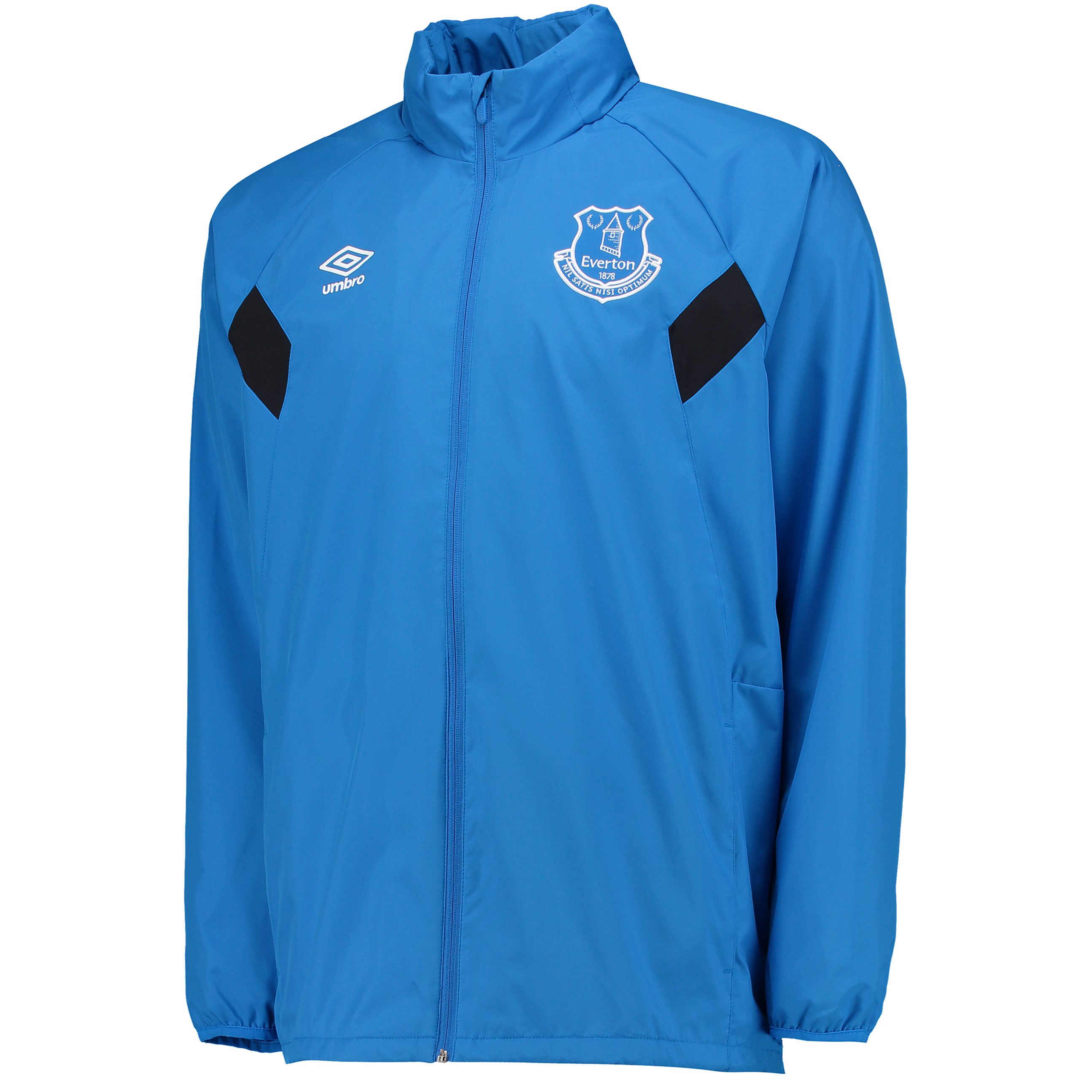 Everton Training Shower Jacket - Electric Blue/Black