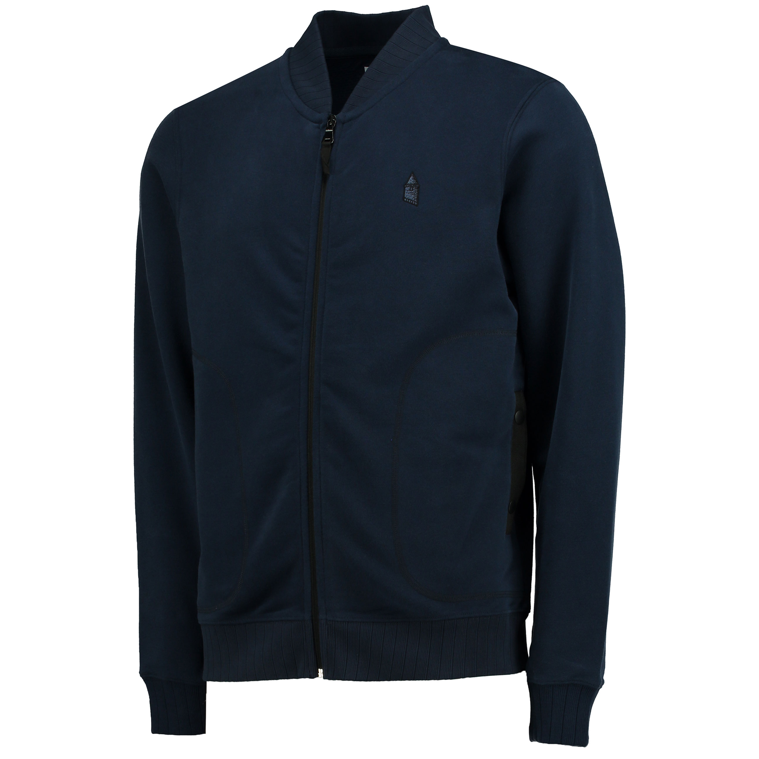Everton Terrace Full Zip Sweater - Navy