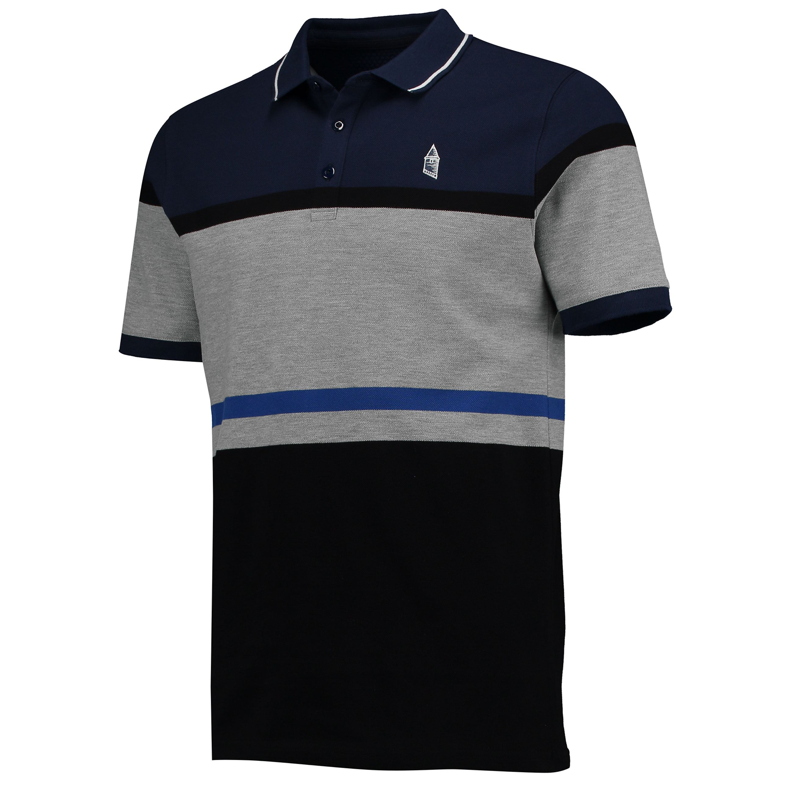 Everton Terrace Polo - Black/Navy/Grey