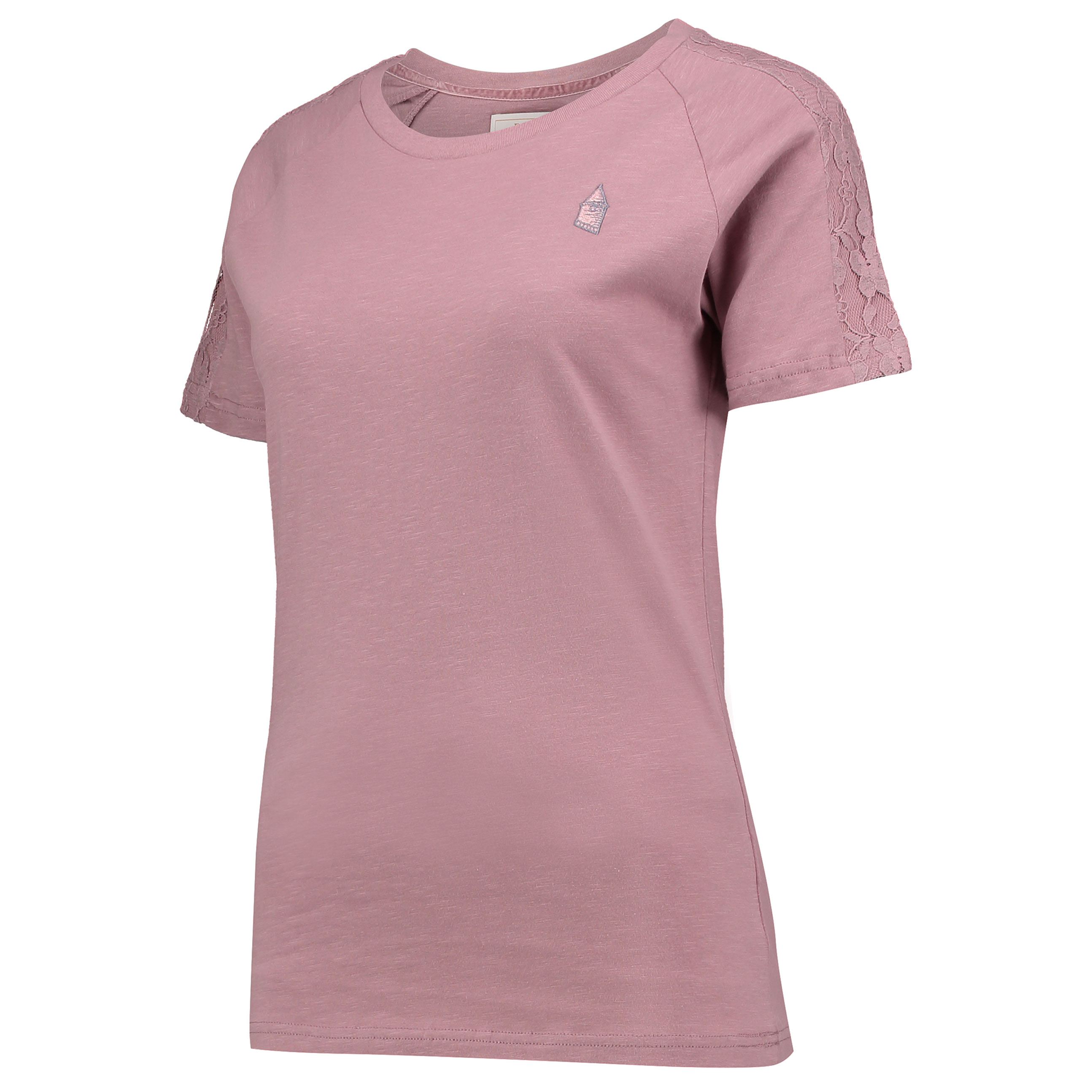 Everton Luxe Lace T-Shirt - Blush - Womens
