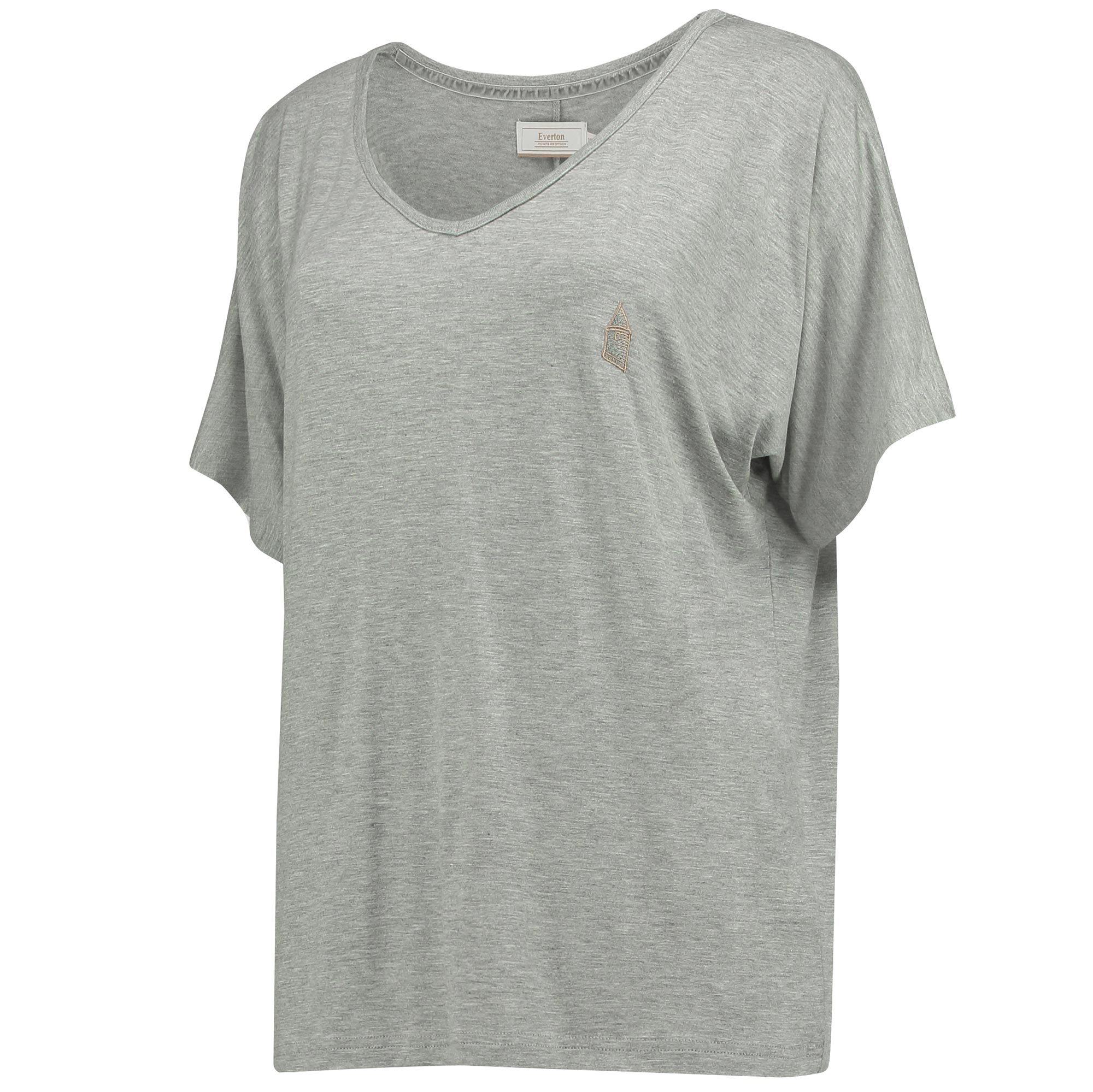 Everton Luxe V T-Shirt - Grey Marl - Womens