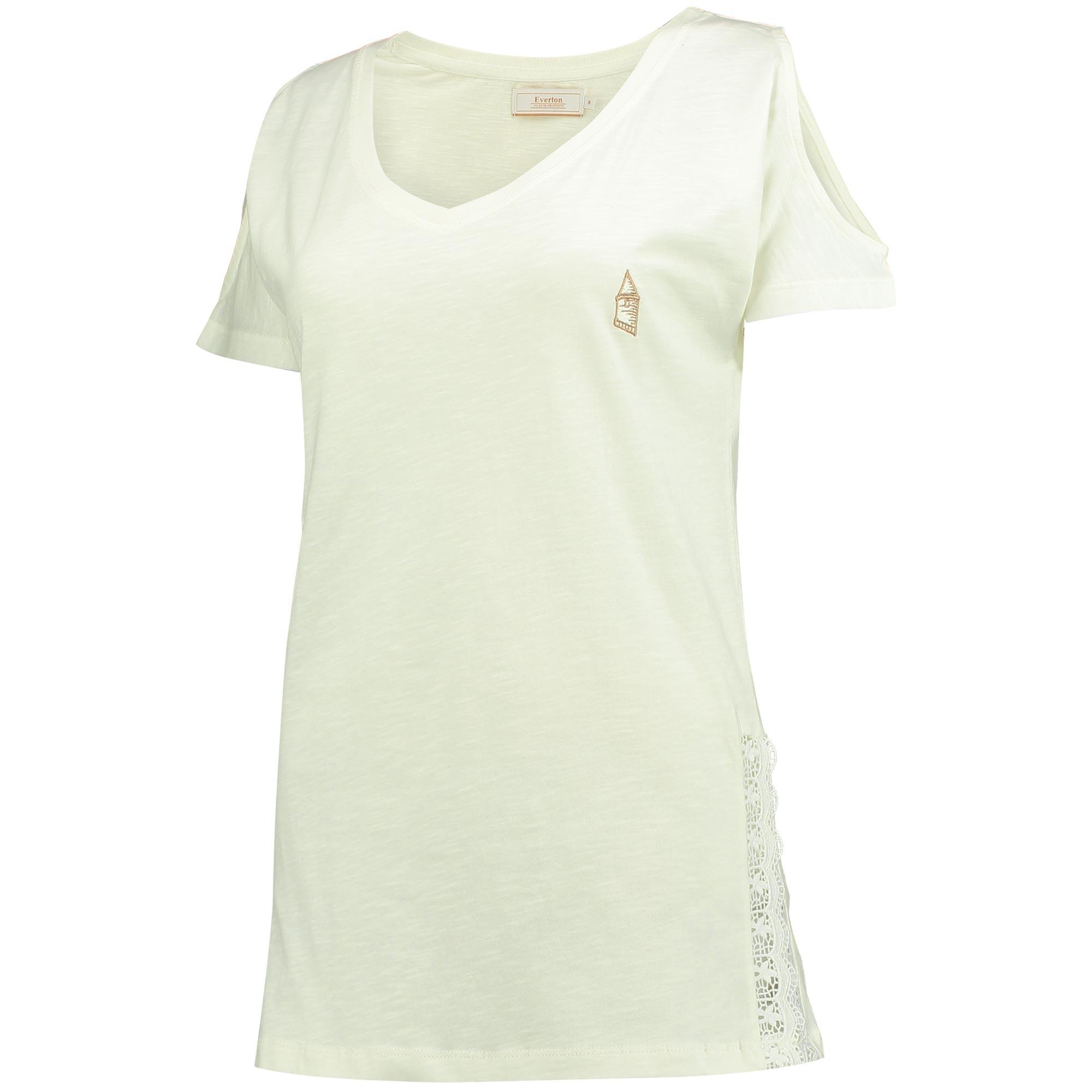 Everton Luxe V T-Shirt - White - Womens