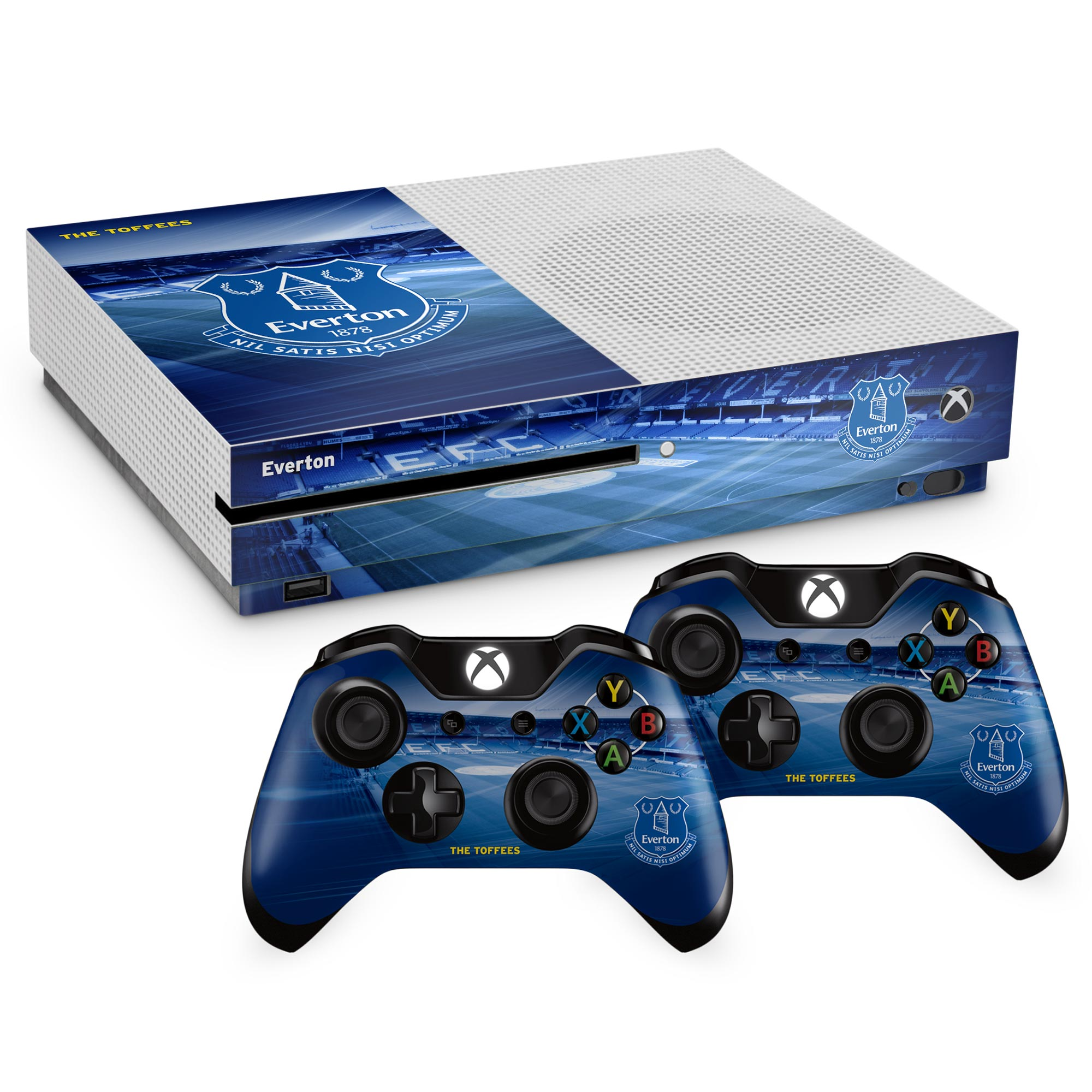 Everton PS4 Xbox One S Controller and Console Skin Set