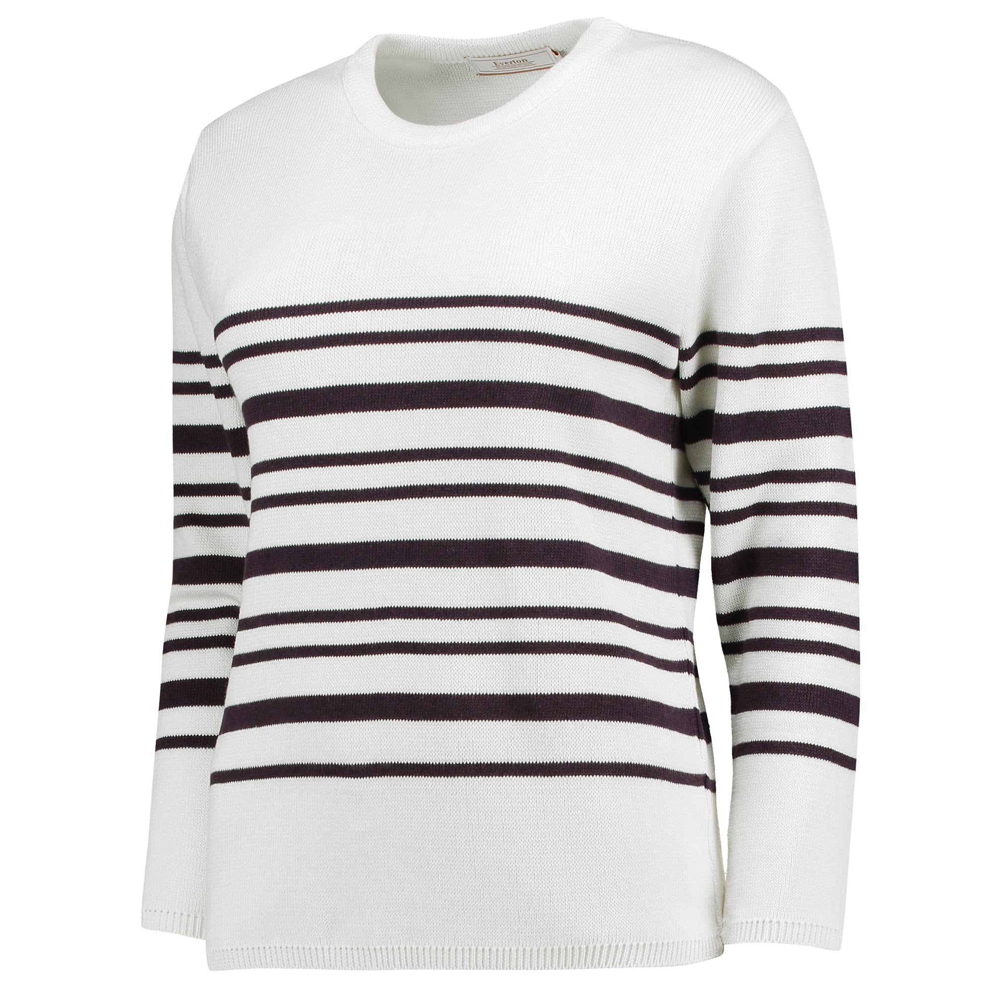 Everton Luxe Breton Top - White - Womens