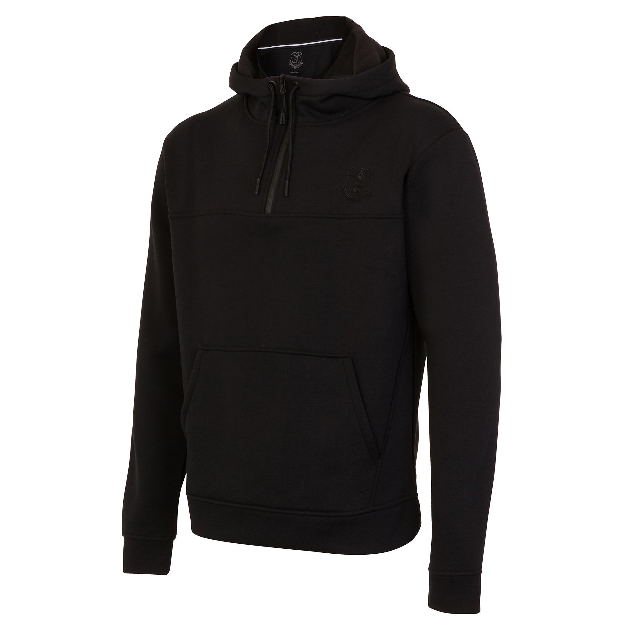 Image of Everton Ath Tech Fleece FZ Hoodie - Black