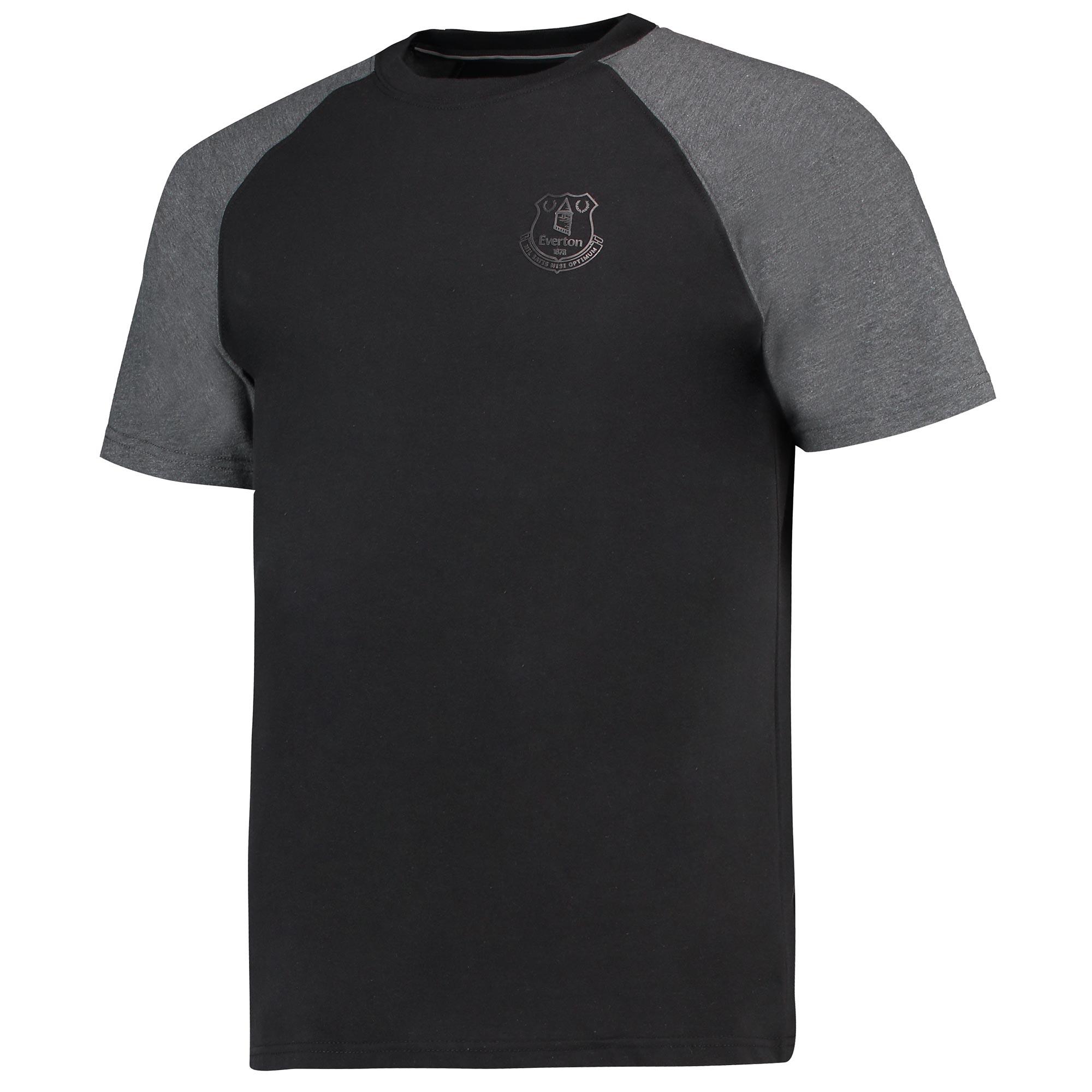 Image of Everton Ath T-Shirt - Black/Charcoal Marl