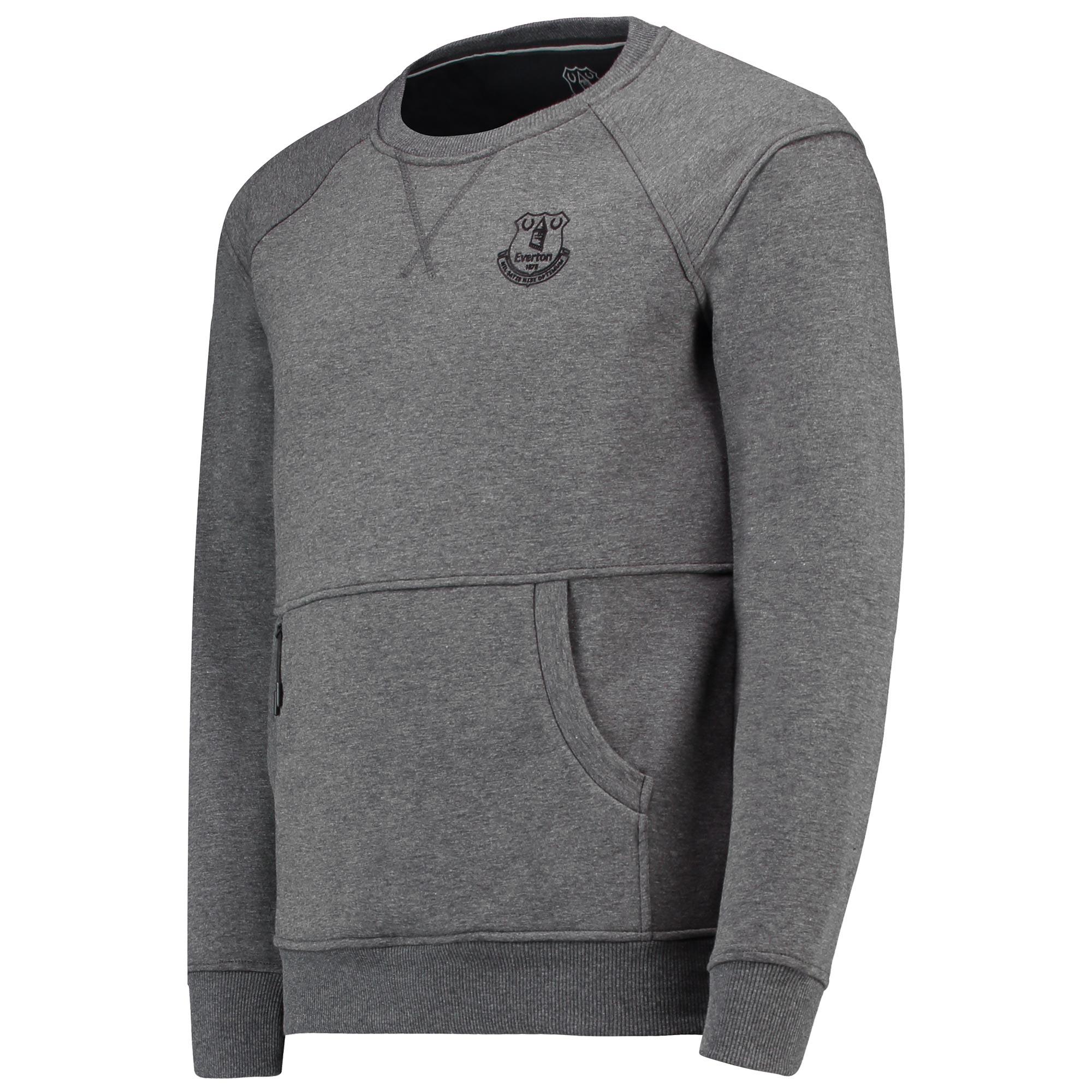 Image of Everton Ath Tech Fleece Sweater - Charcoal Marl