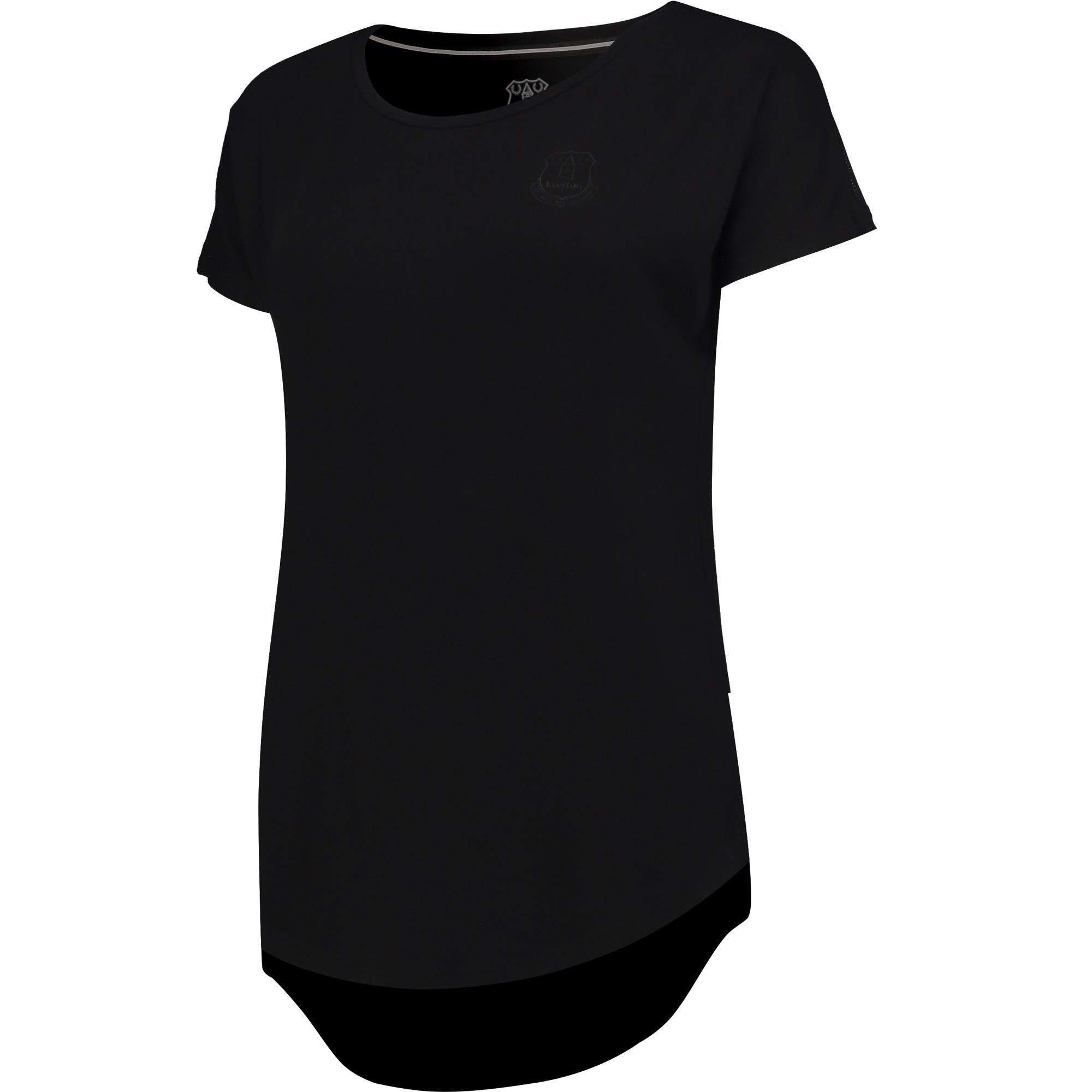 Image of Everton Ath T-Shirt - Black - Womens