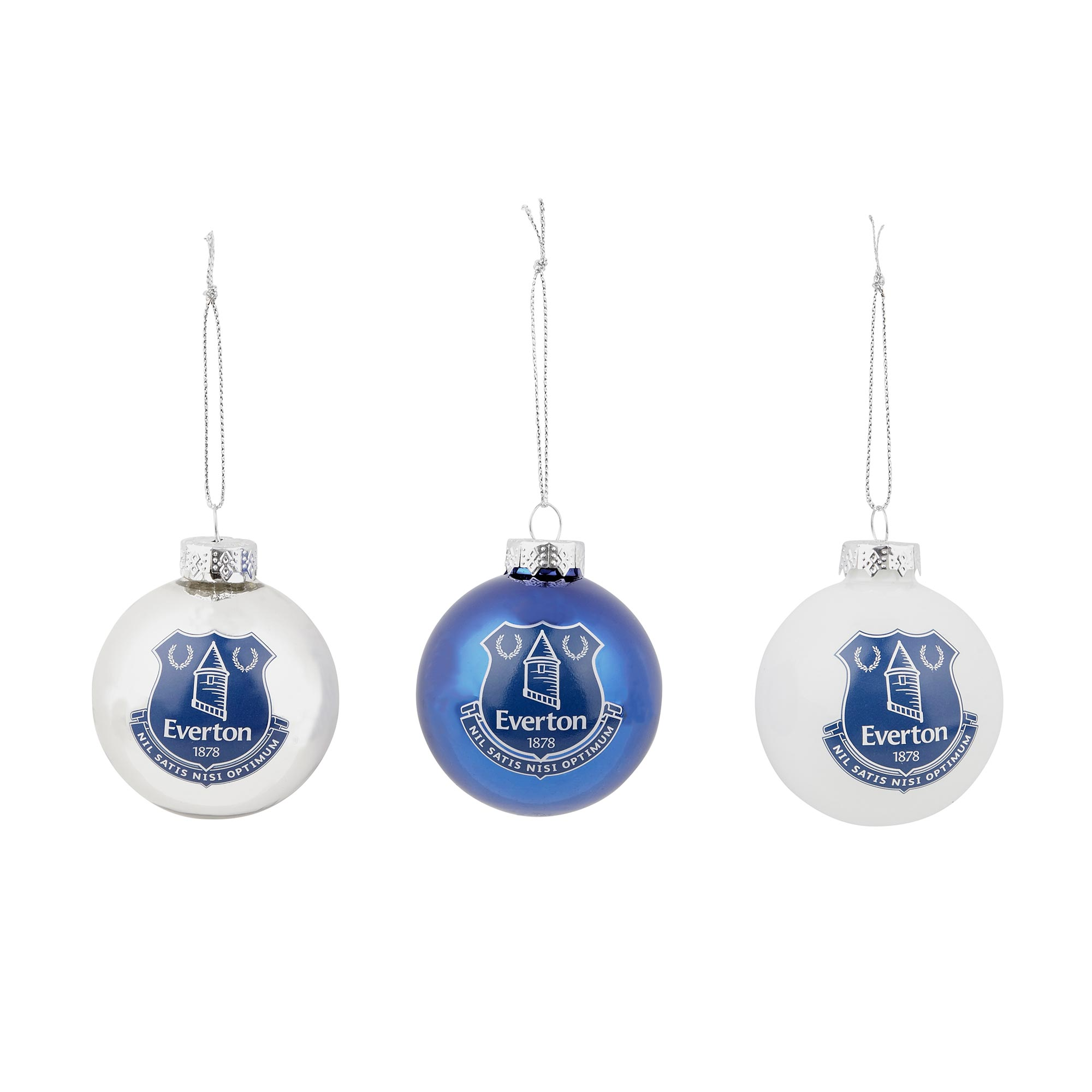 Image of Everton Baubles 60mm - 3 Pack