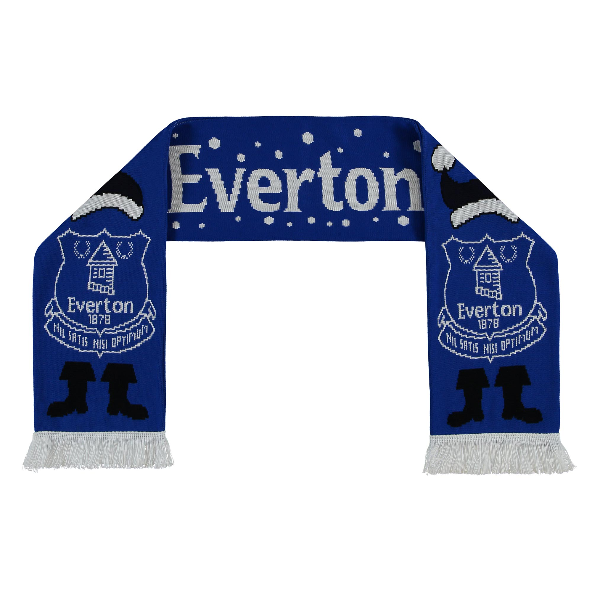 Image of Everton Christmas Crest Scarf