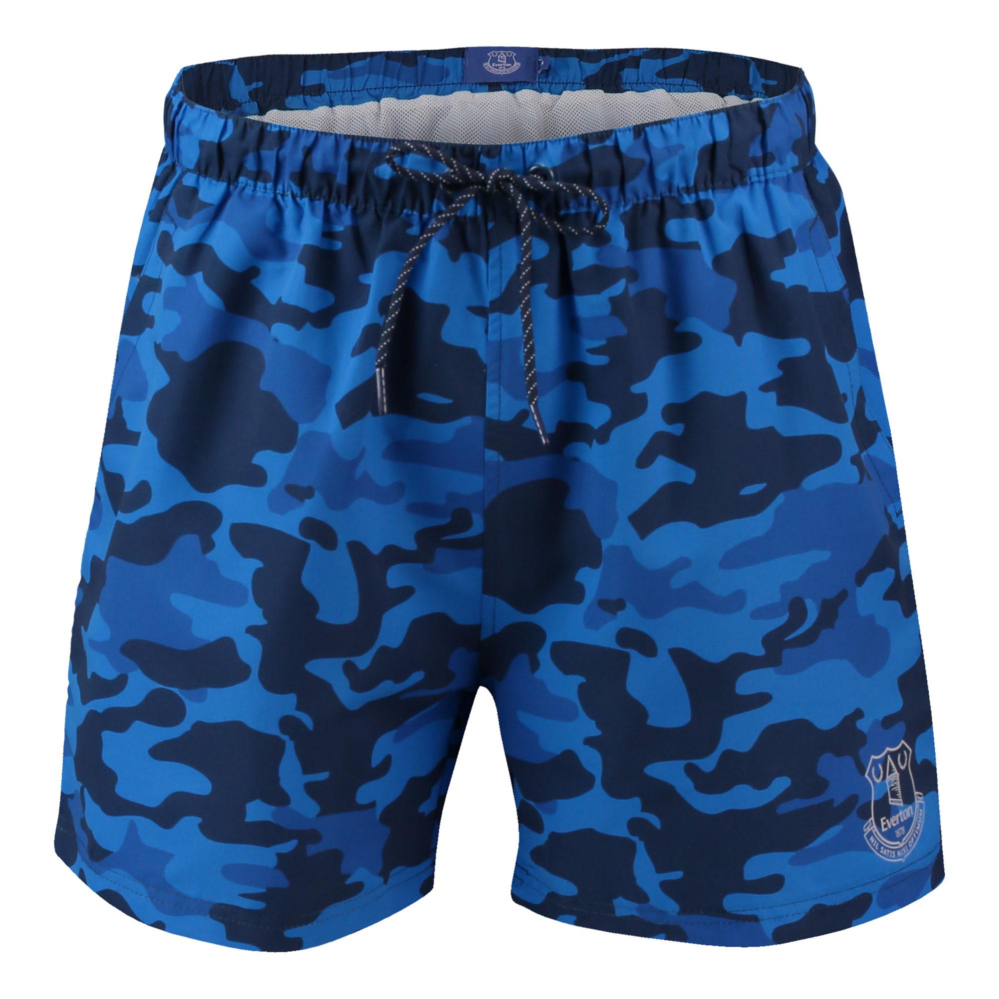 Image of Everton Camo Crest Shorts - Blue - Mens