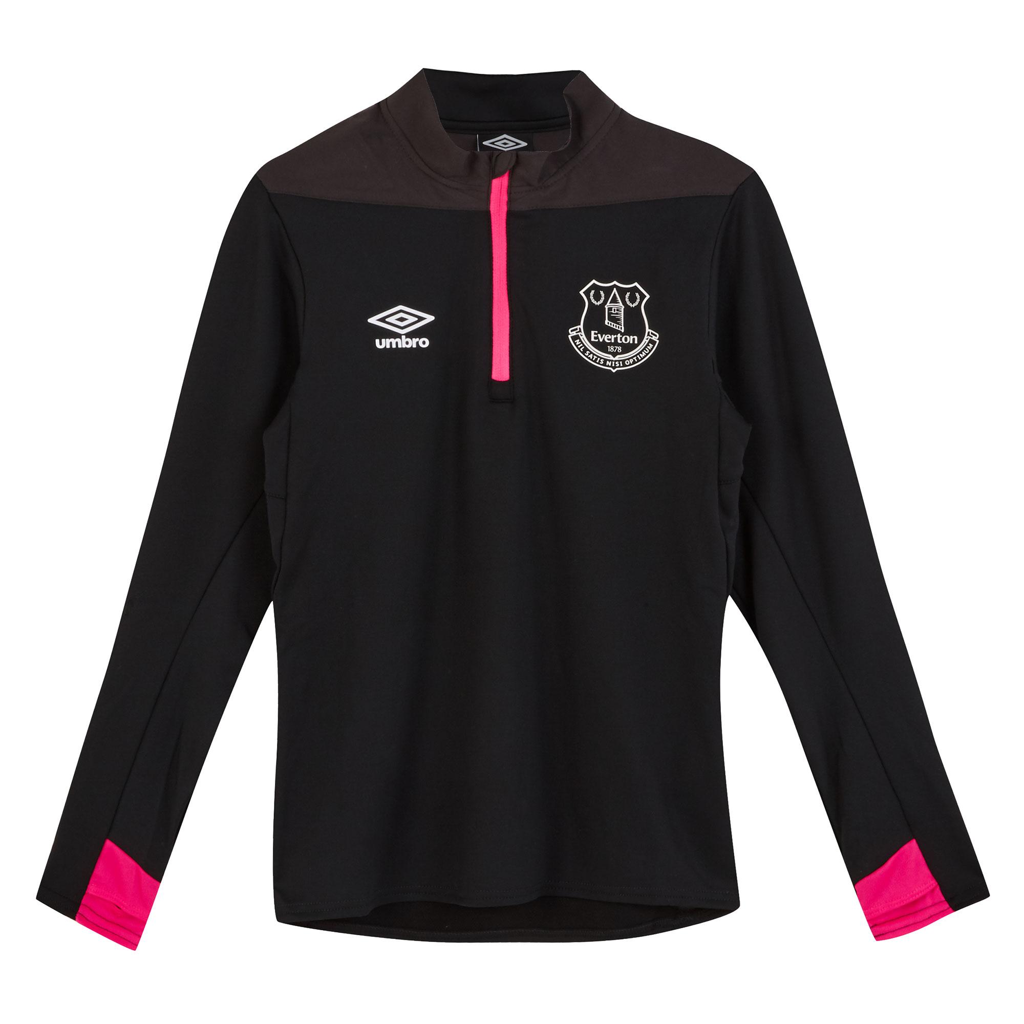 Everton Training Half Zip Sweatshirt - Black - Kids