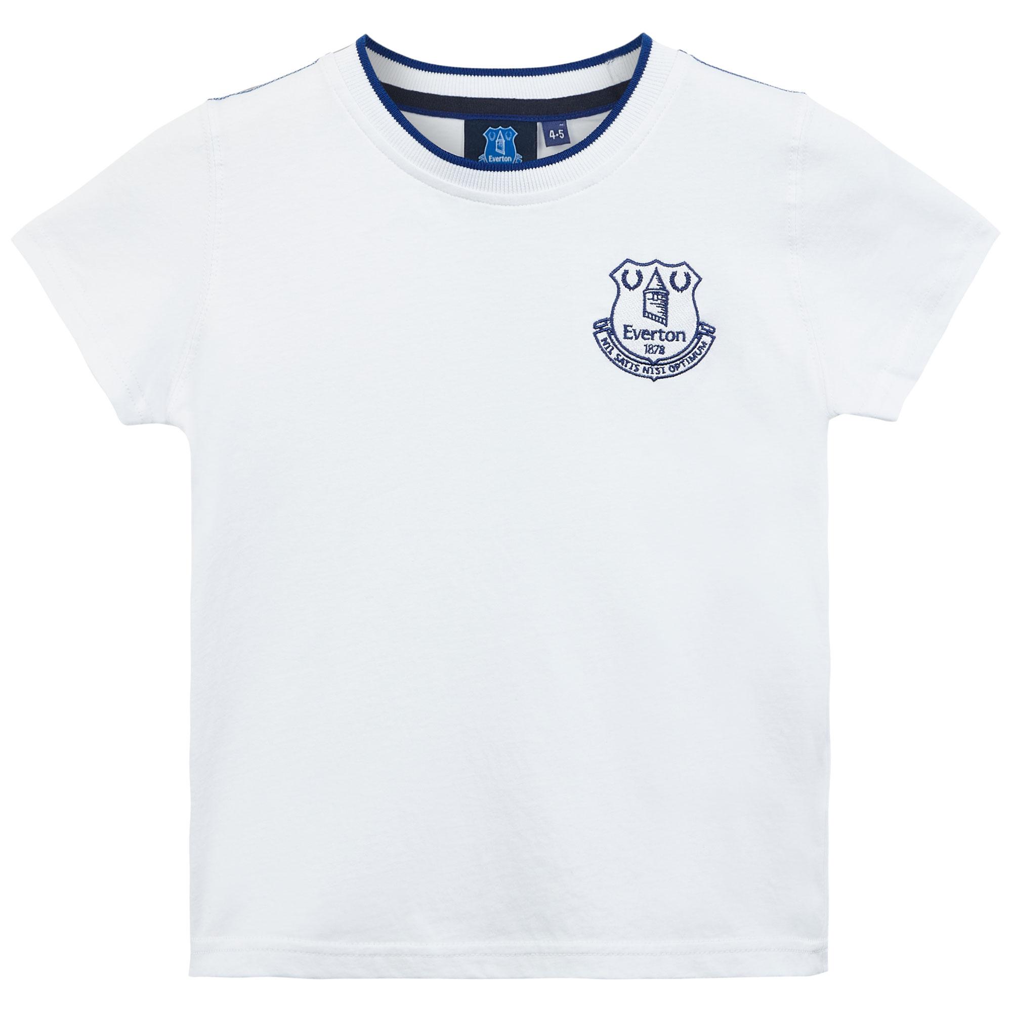 Everton Core Basic Tipped Collar T-Shirt- White- Infant Boys