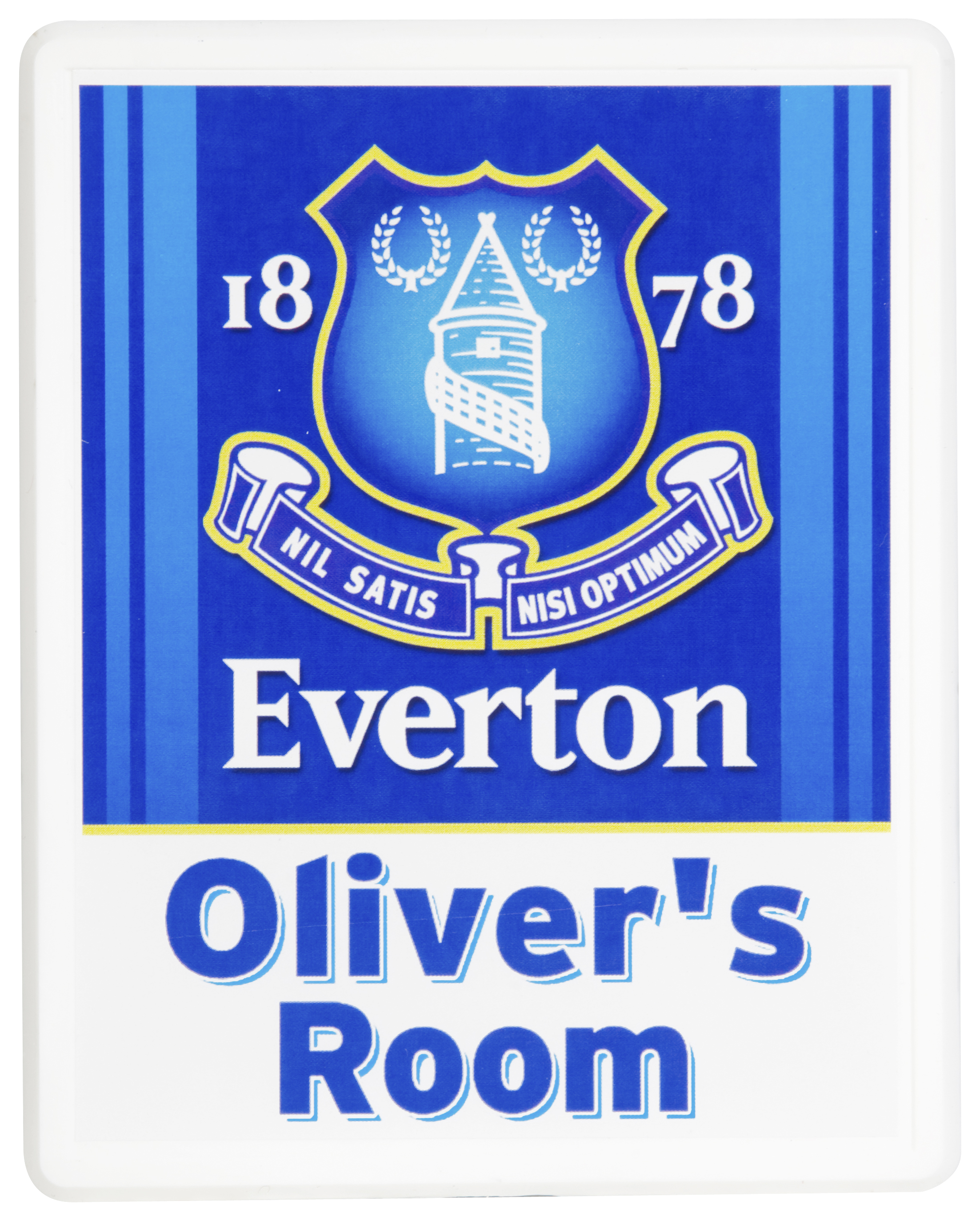 Everton Personalised Door Plaques