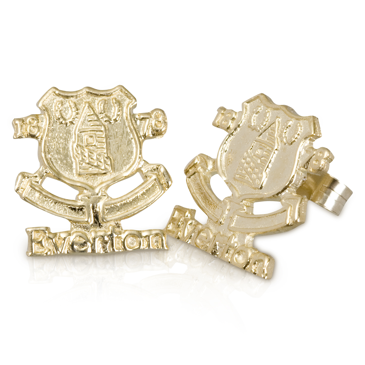 Everton Crest Stud Earring - Pair - 9ct Gold