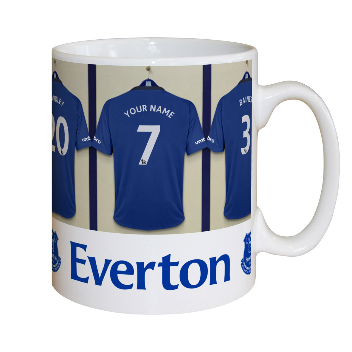 Everton Personalised Dressing Room Mug