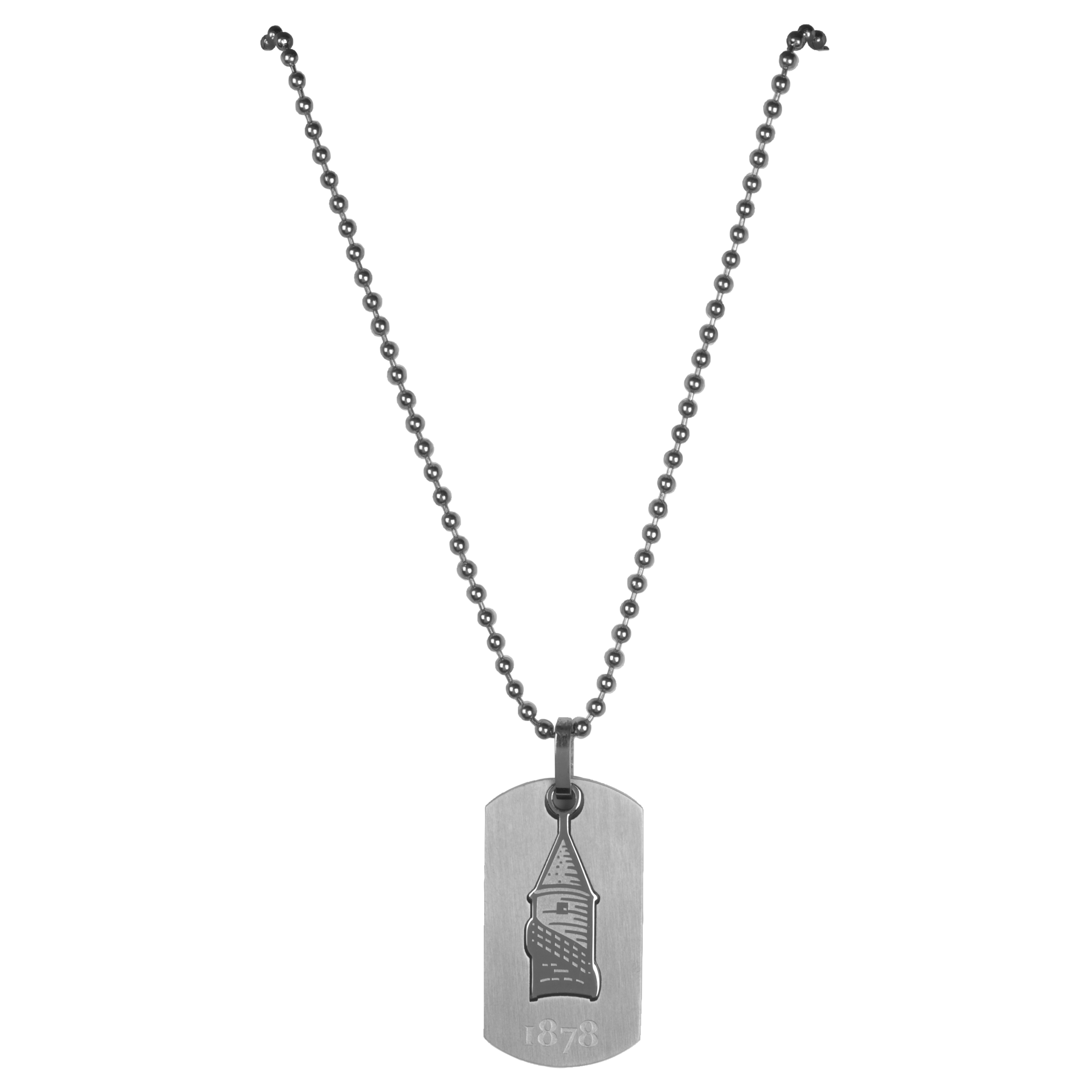 Everton Stainless Steel Cutout Dog Tag and Ball Chain