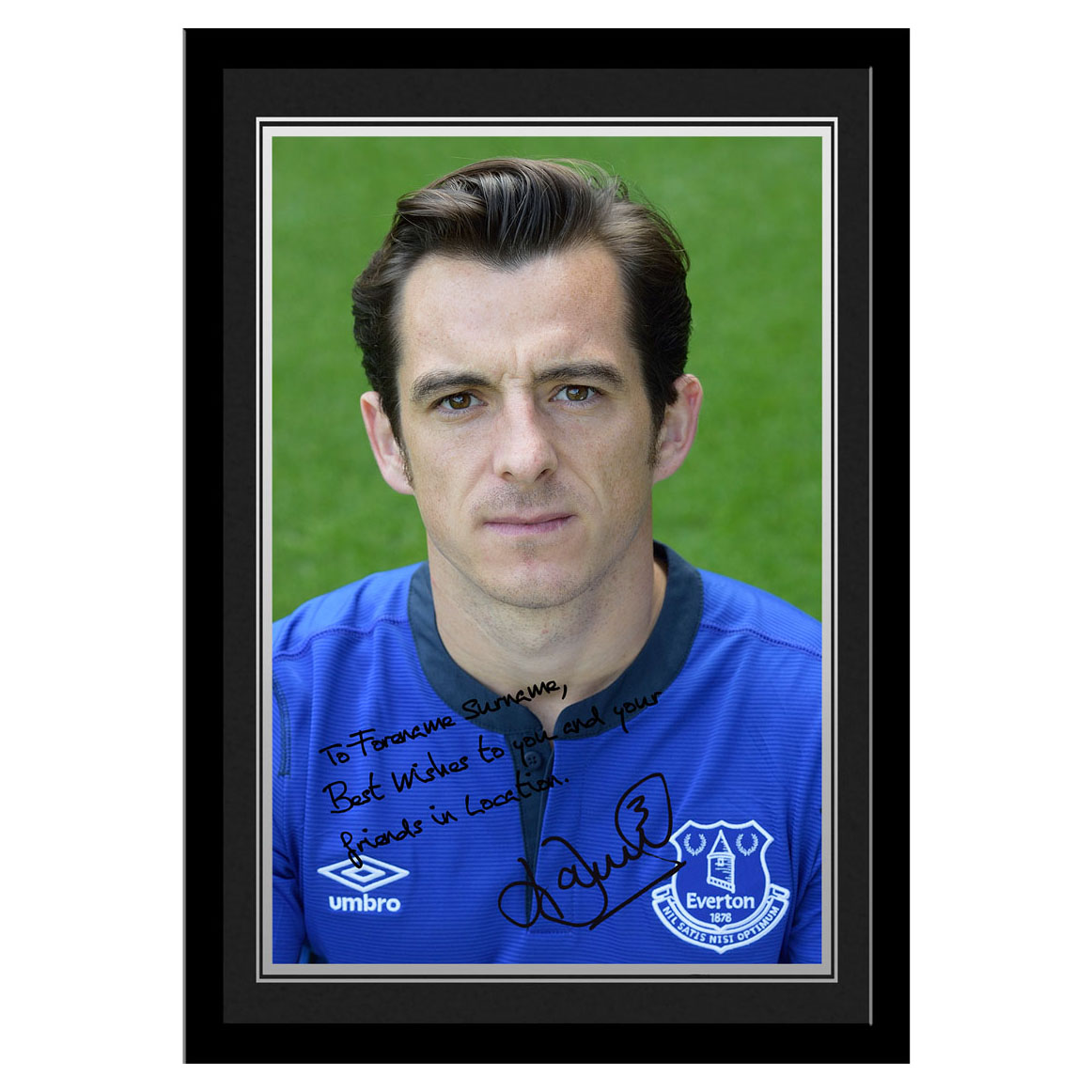 Everton Personalised Signature Photo Frame - Baines