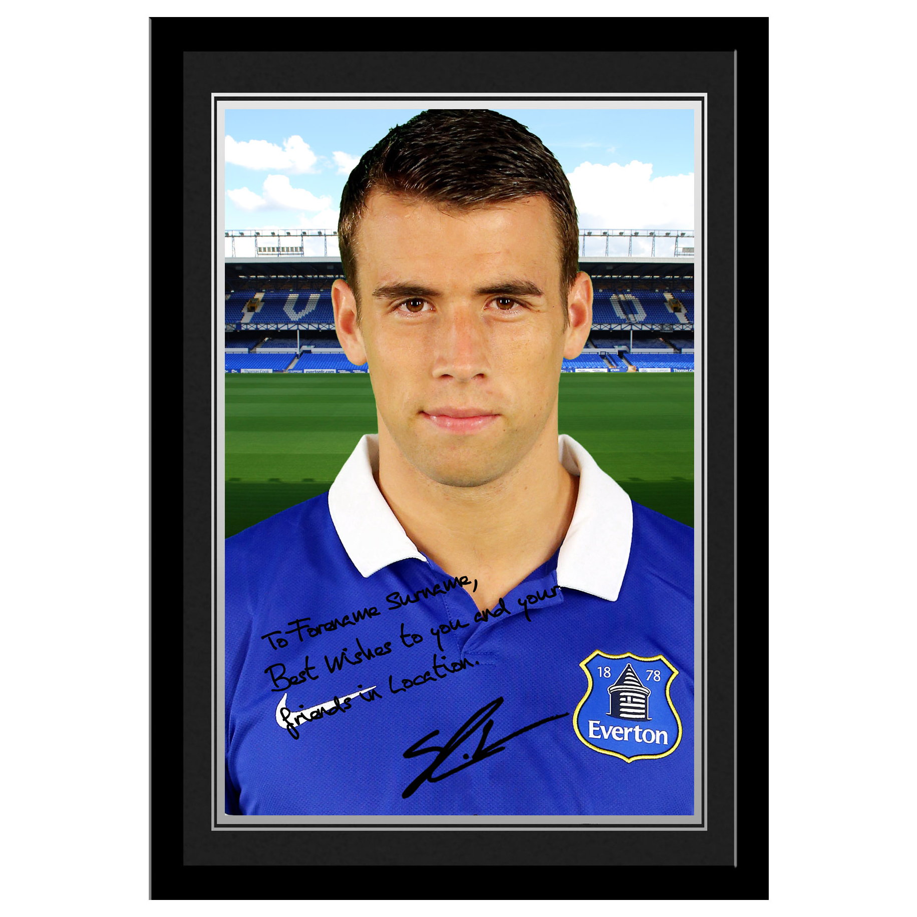 Everton Personalised Signature Photo Frame - Coleman