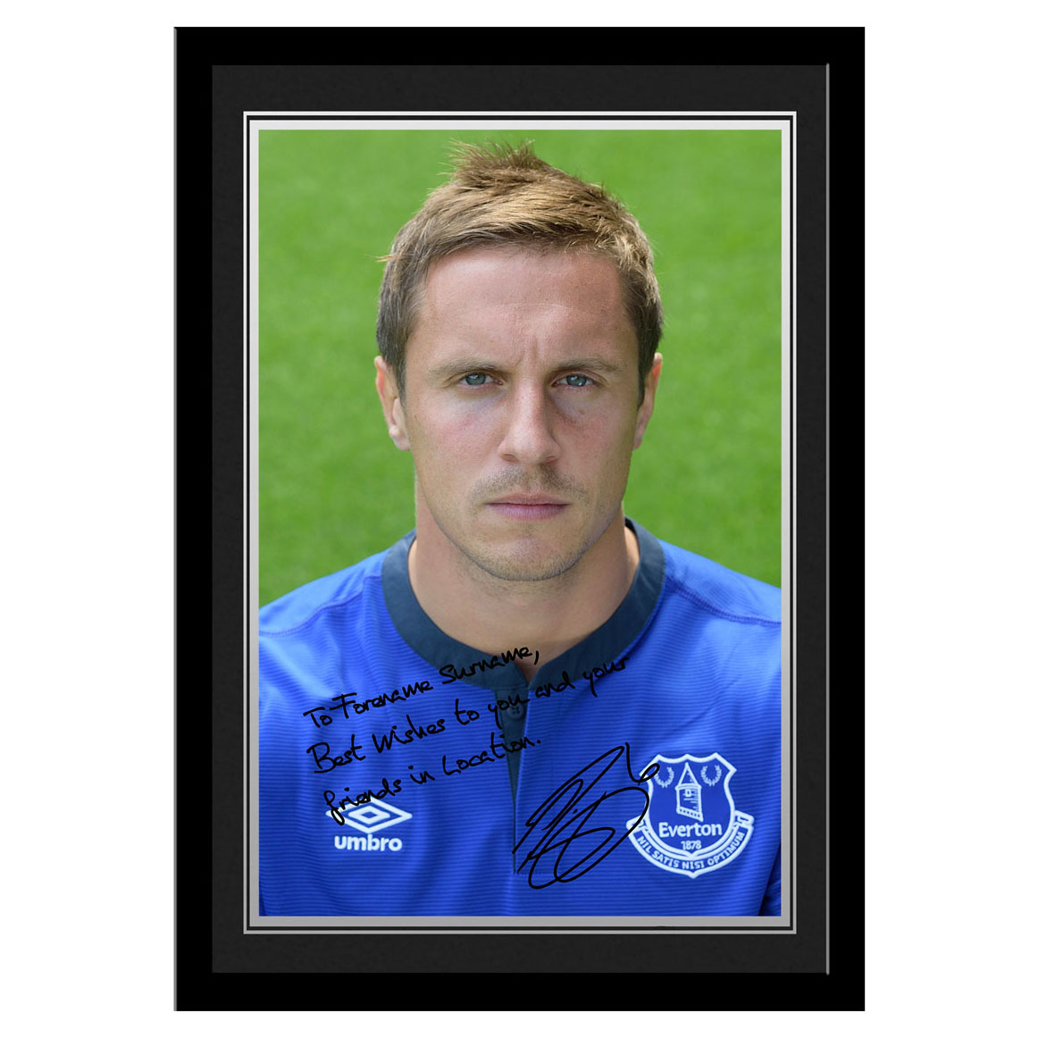 Everton Personalised Signature Photo Frame - Jagielka
