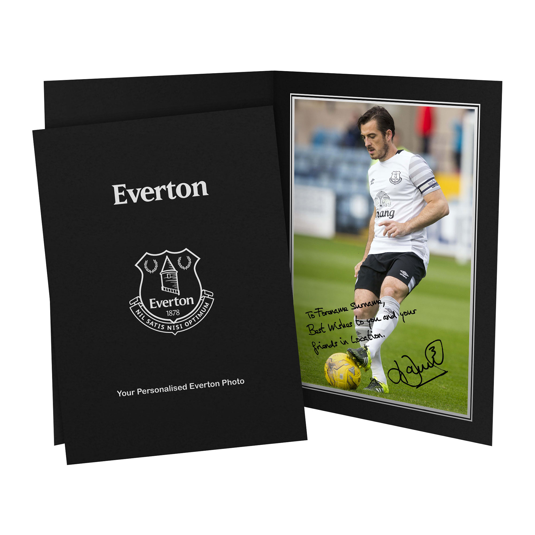 Everton Personalised Signature Photo in Presentation Folder - Baines