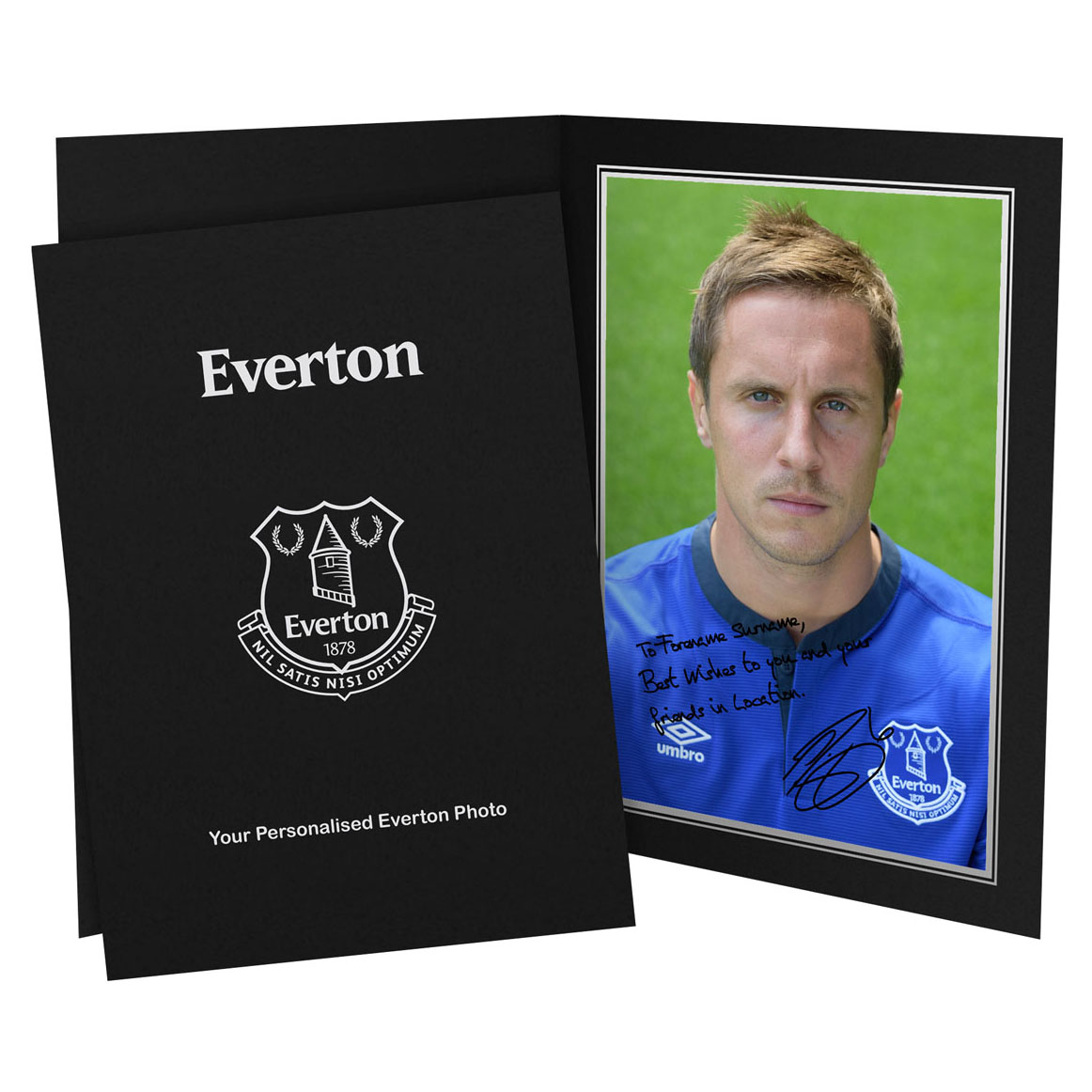 Everton Personalised Signature Photo in Presentation Folder - Jagielka