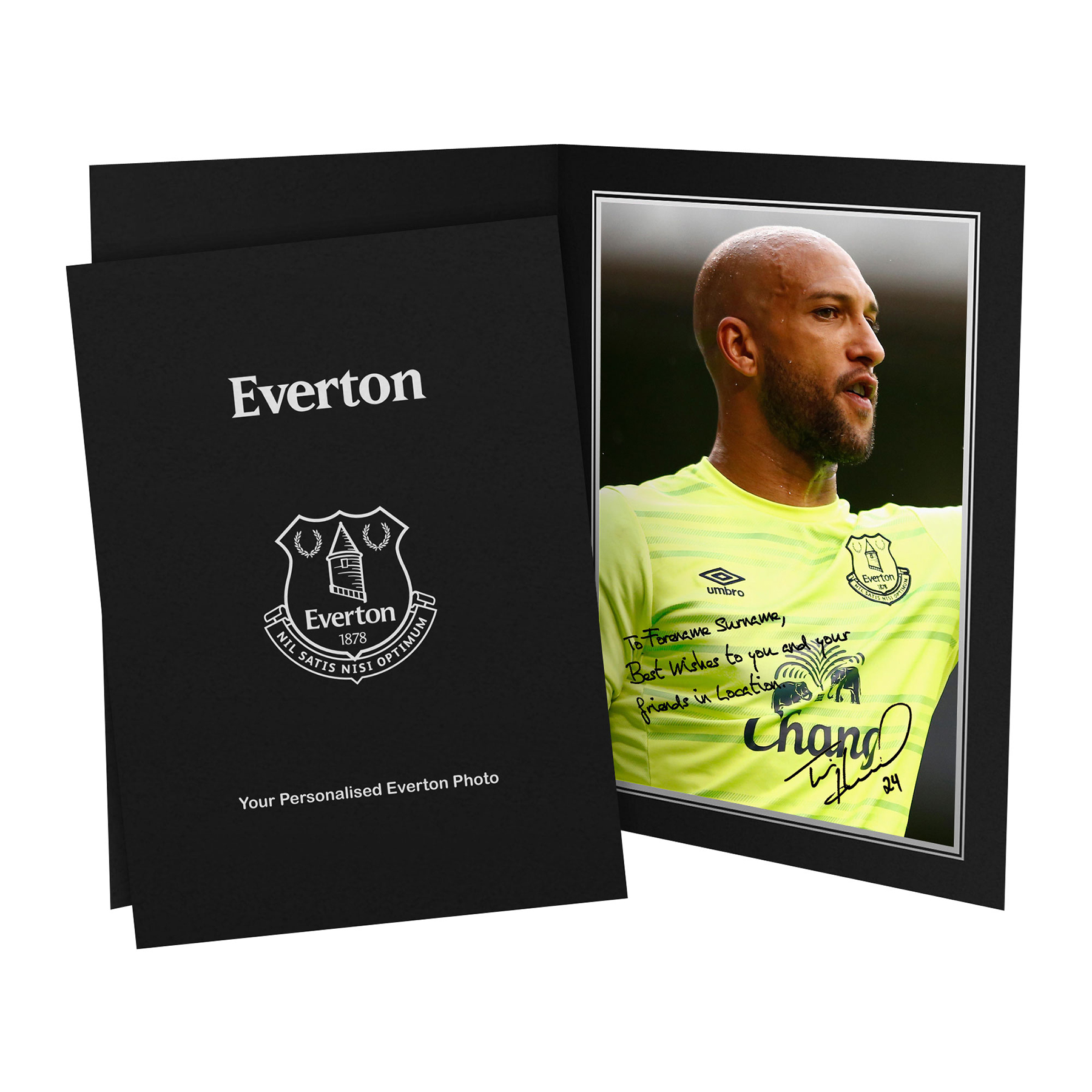 Everton Personalised Signature Photo in Presentation Folder - Howard