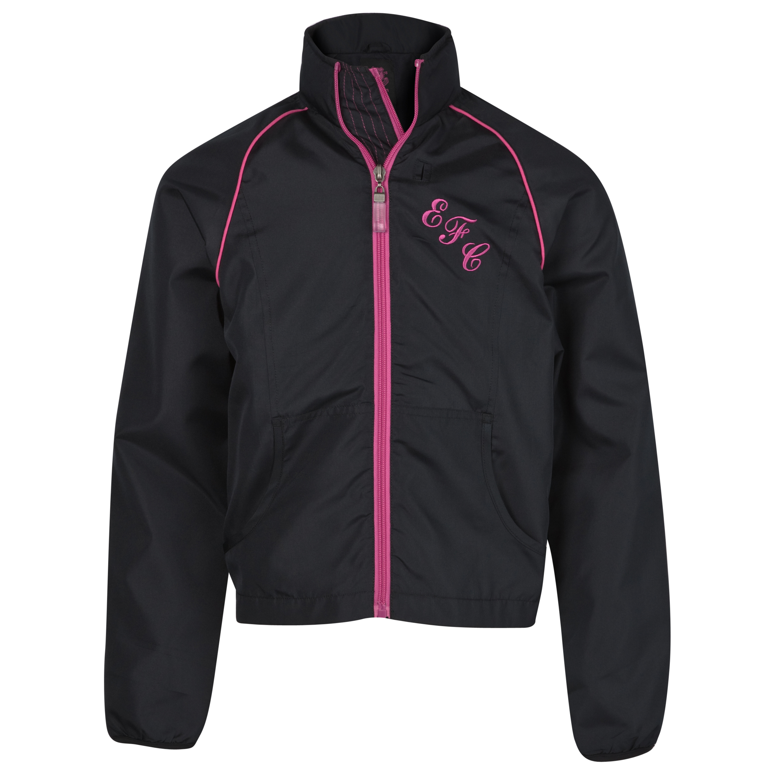 Everton Essential Performance Rollback Jacket - Black - Girls