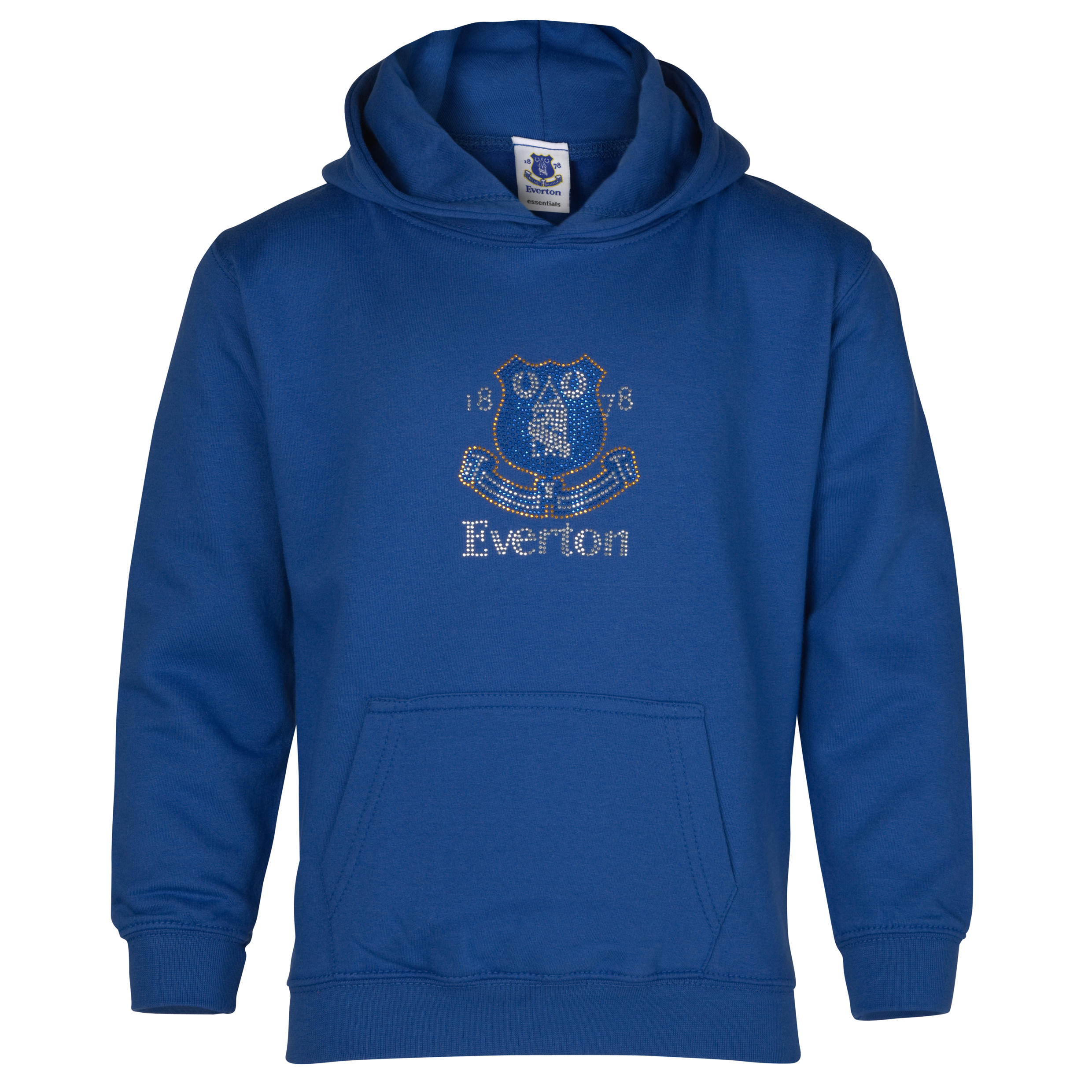 Everton Essential Rhinestone Hoodie - Everton Blue - Girls
