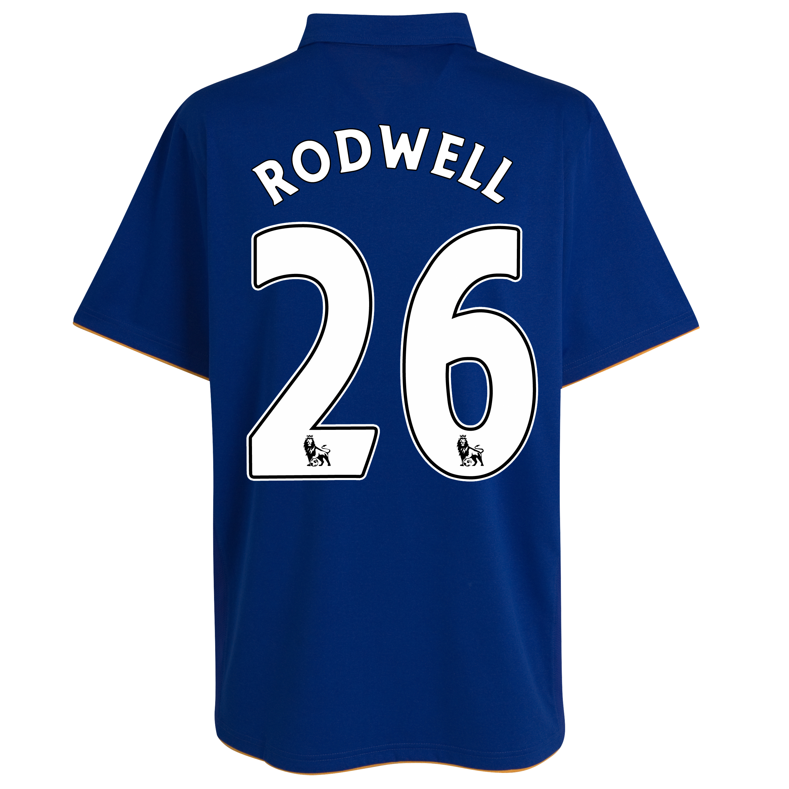Everton Home Shirt 2011/12 - Kids with Rodwell 26 printing