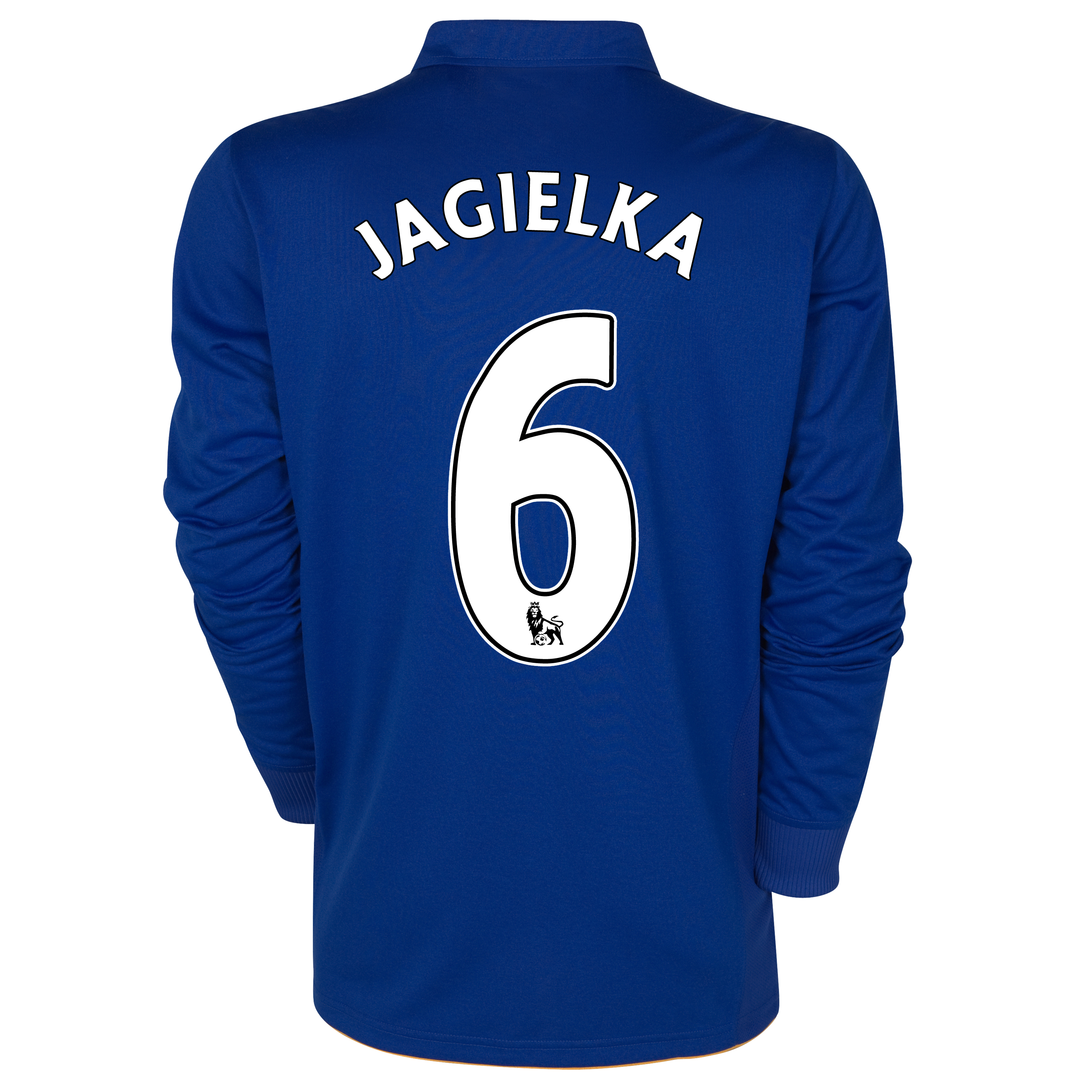 Everton Home Shirt 2011/12- Long Sleeved - Kids with Jagielka 6 printing