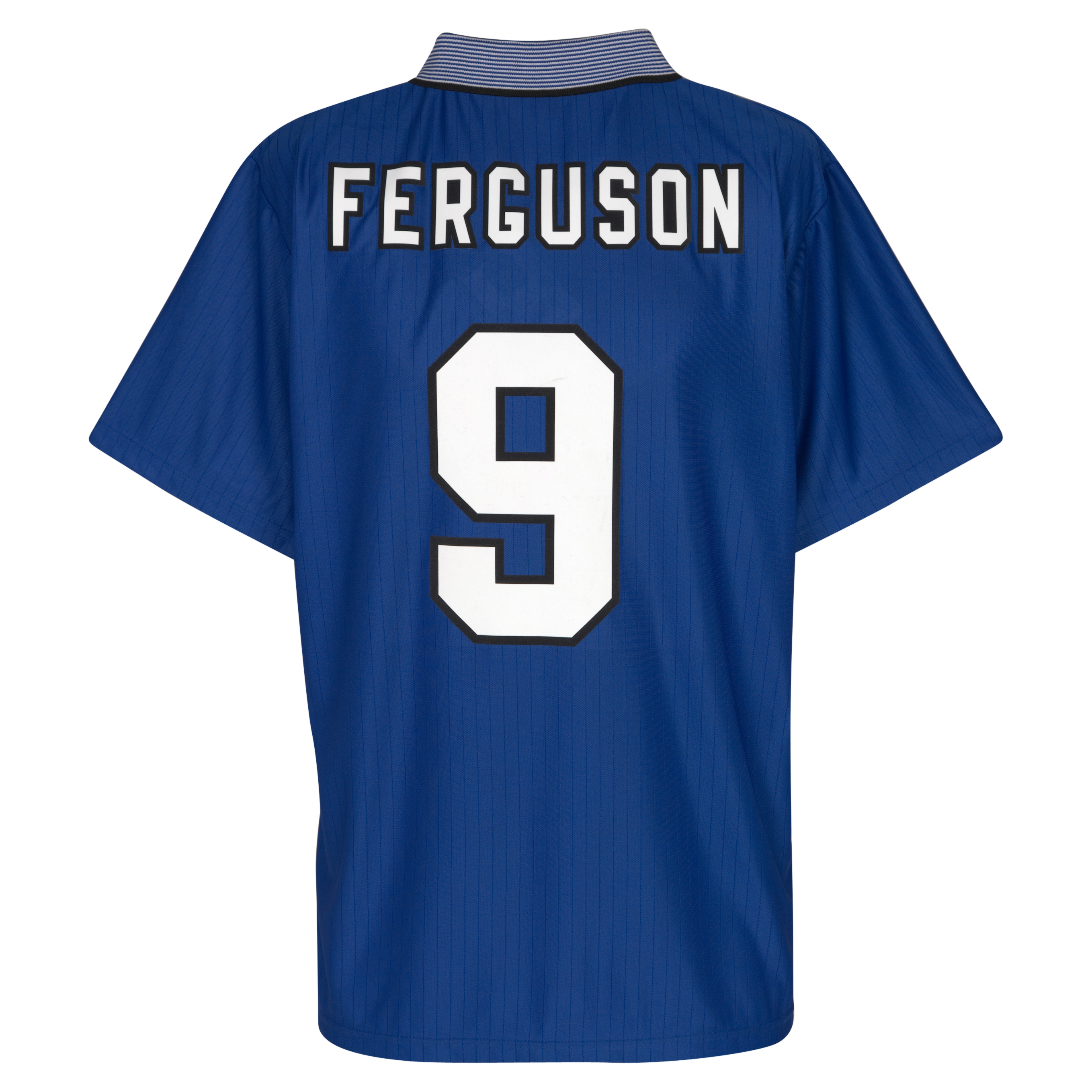 Everton 1995 FA Cup Winners Shirt - Everton Blue with Ferguson  9 printing