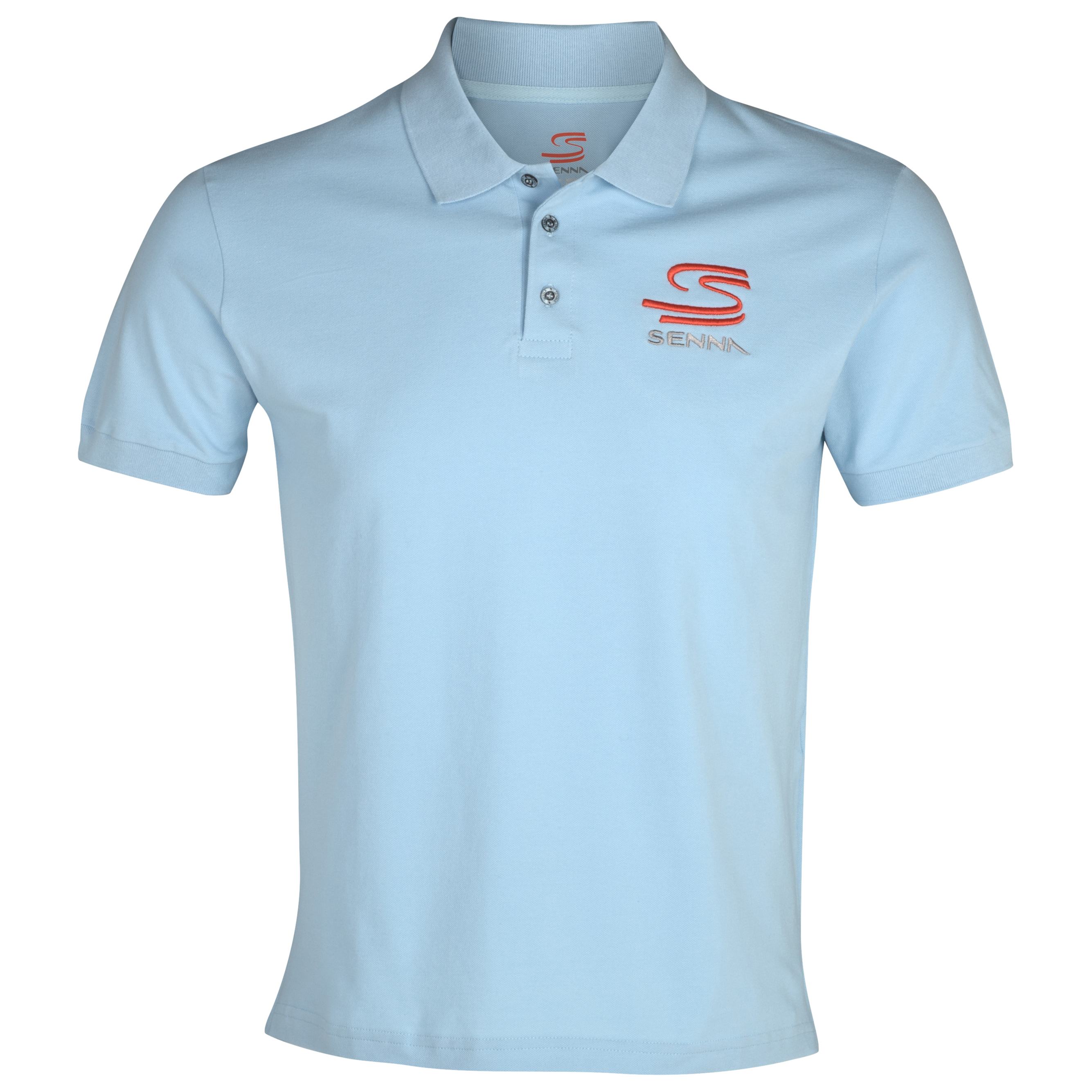 Ayrton Senna Double S Polo - Blue