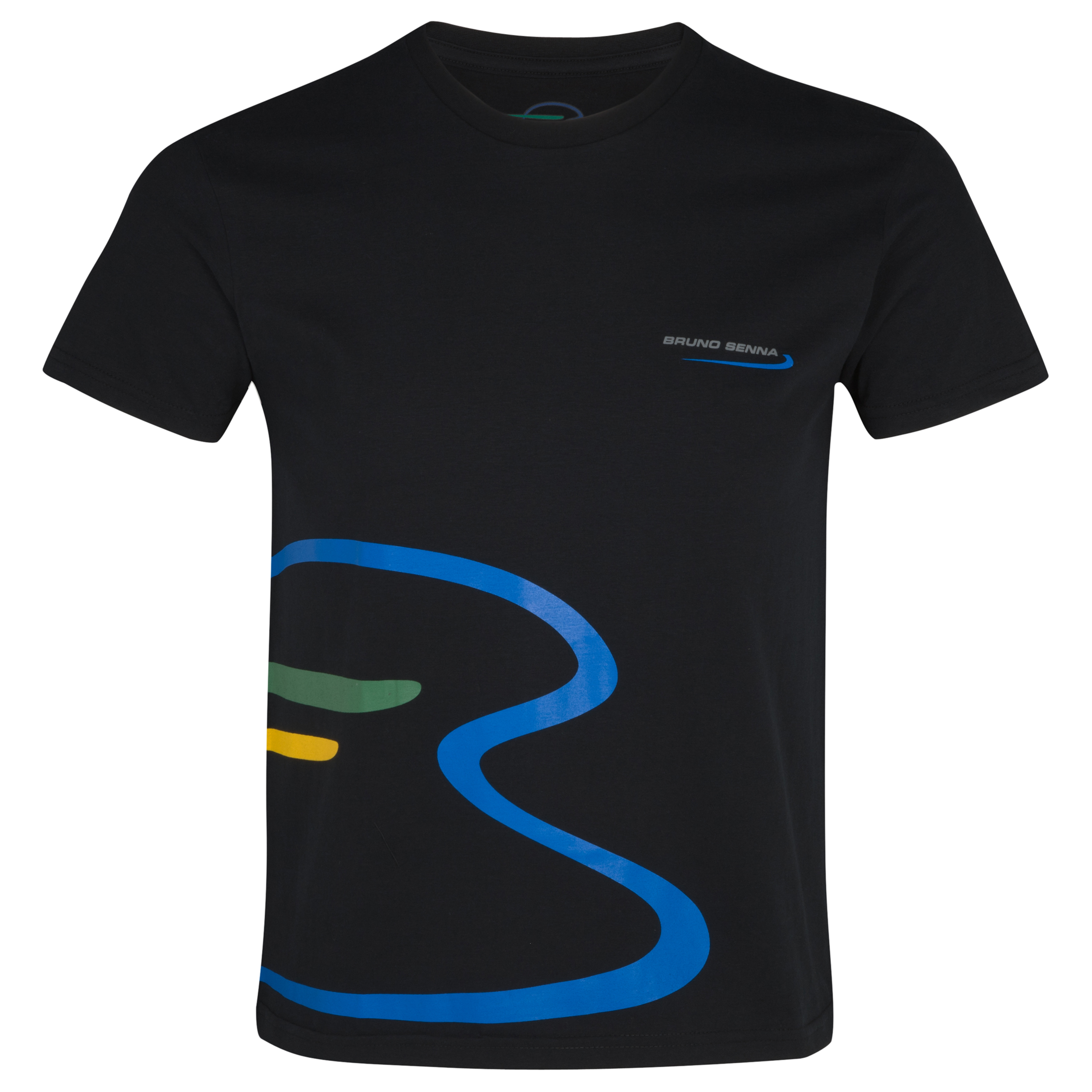 Bruno Senna Large Logo T-Shirt - Black