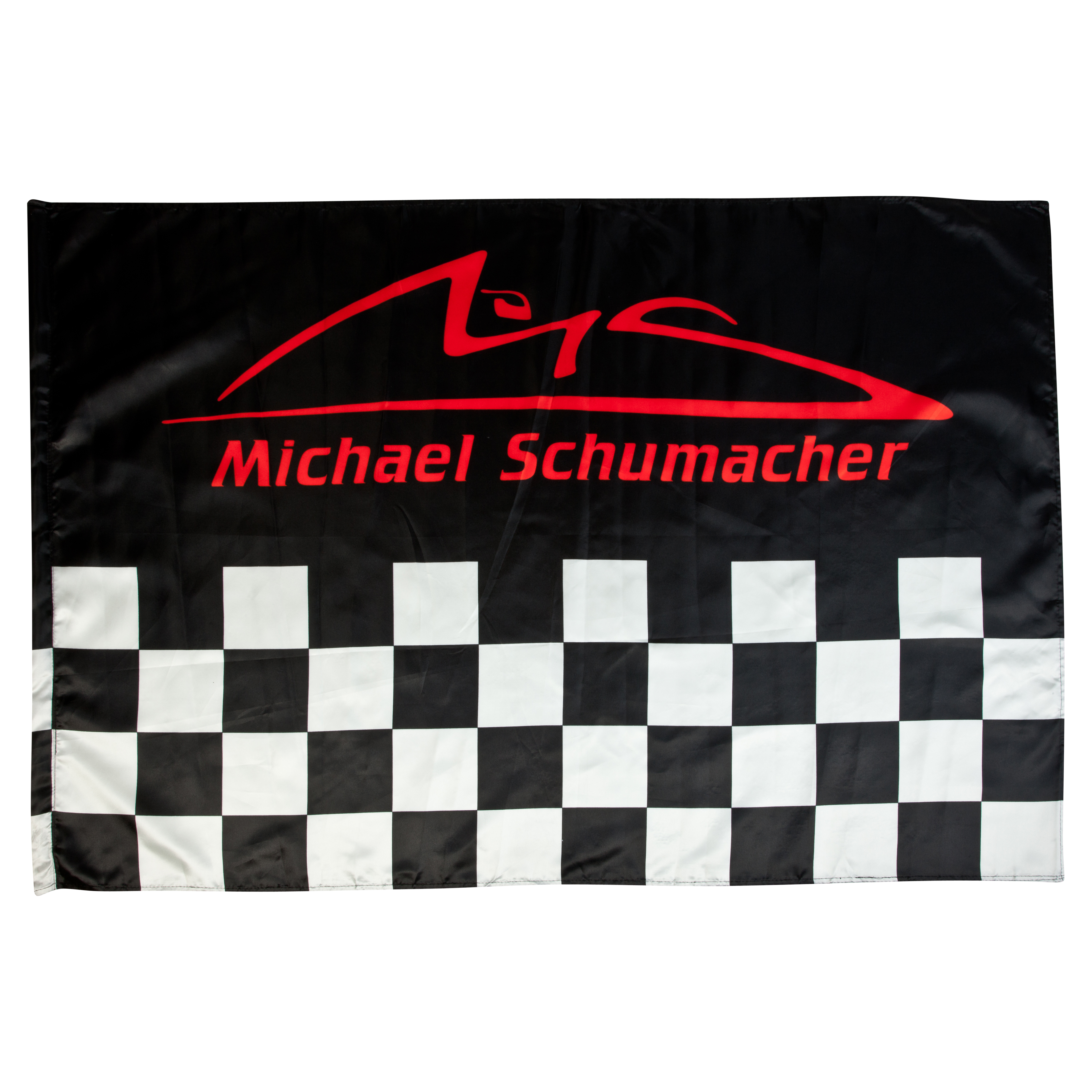 Michael Schumacher Chequered Logo Flag