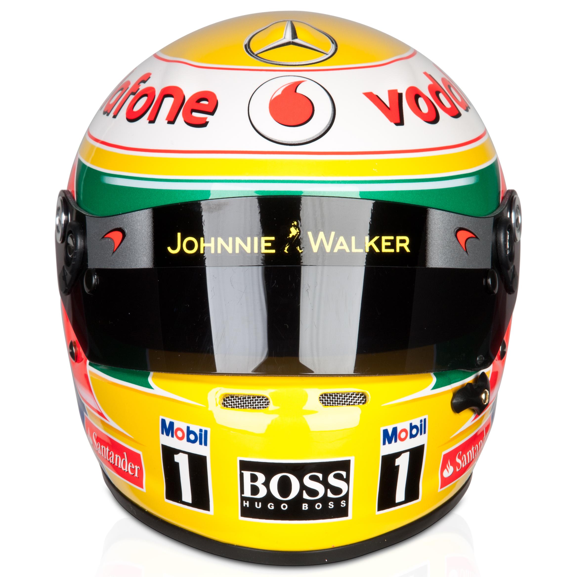 Vodafone McLaren Mercedes Lewis Hamilton 2012 Helmet 1:2 Scale. for 80€