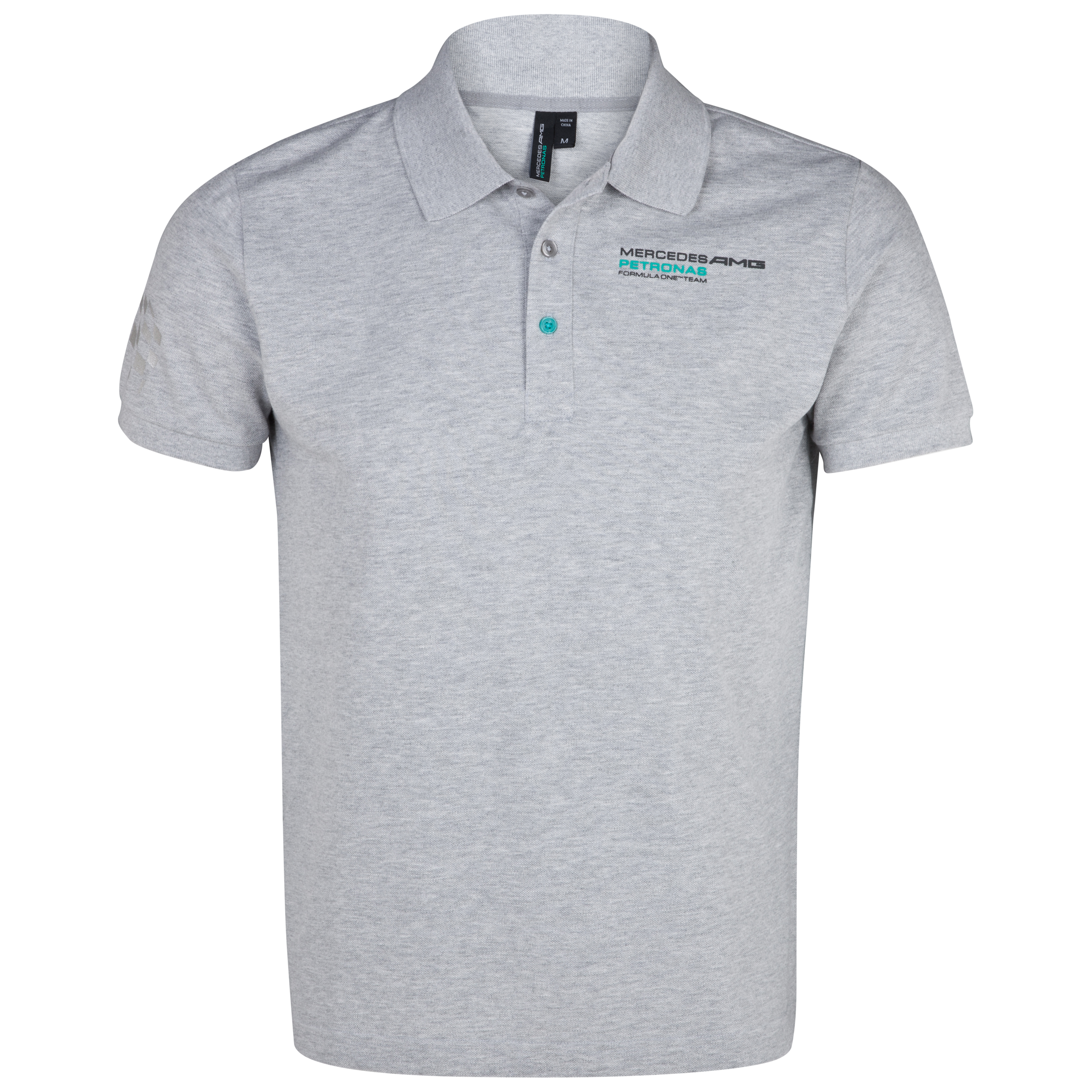 Mercedes AMG Petronas Polo Shirt - Gray Heather