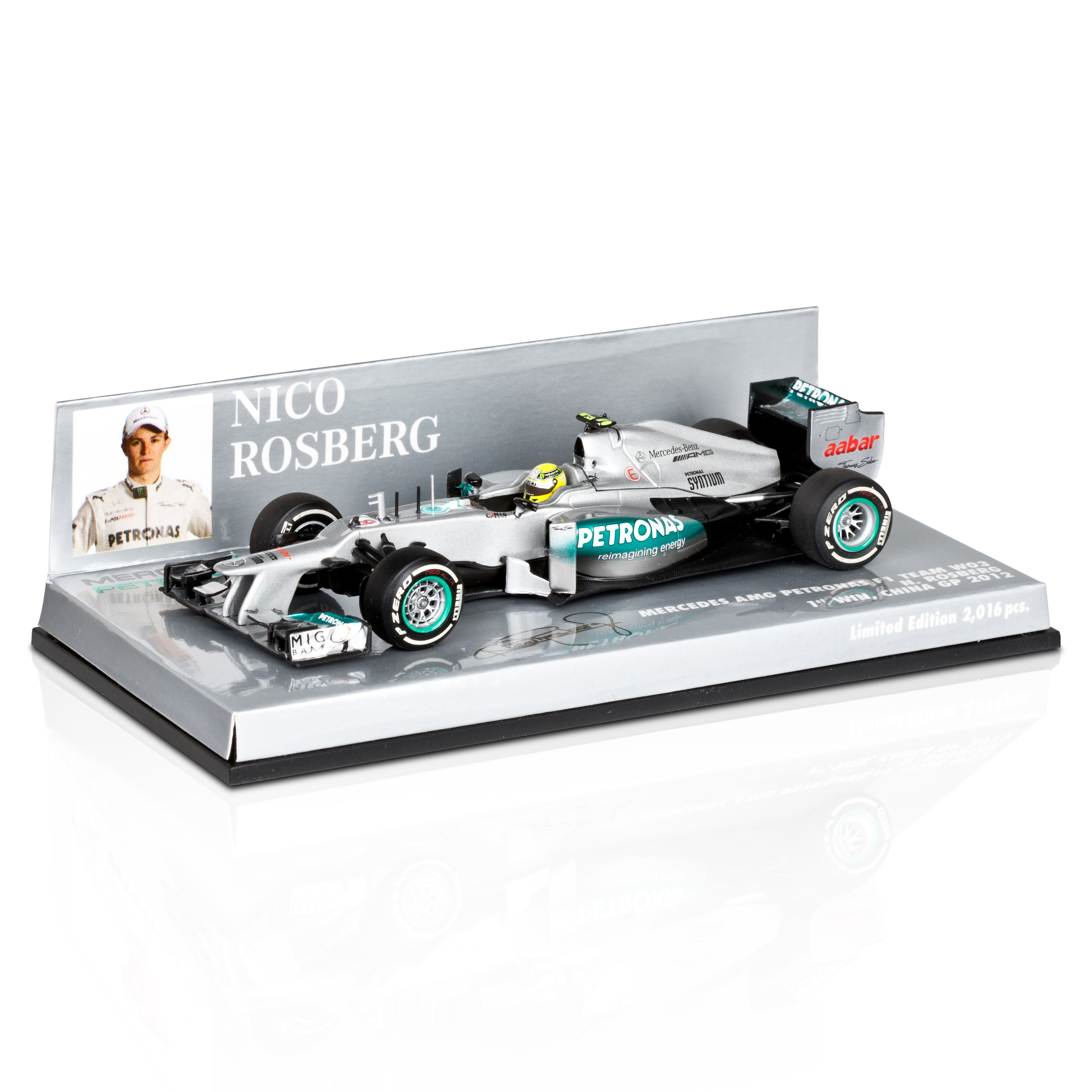 Mercedes AMG Petronas F1 Team W03 2012 Nico Rosberg - 1st F1 Win Chinese GP - Limited Edition 1:43 Scale