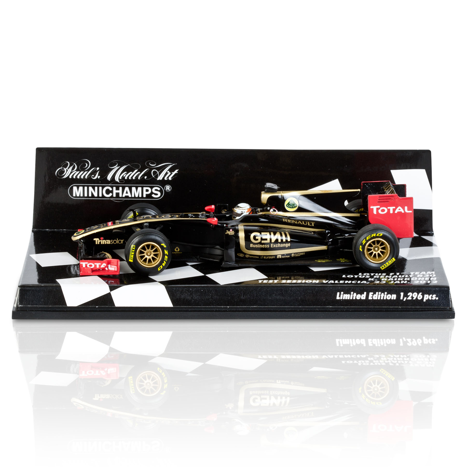 Lotus F1 Team Renault R20 2011 Kimi Raikkonen Test Session 23rd January 2012 - Limited Edition 1:43 Scale