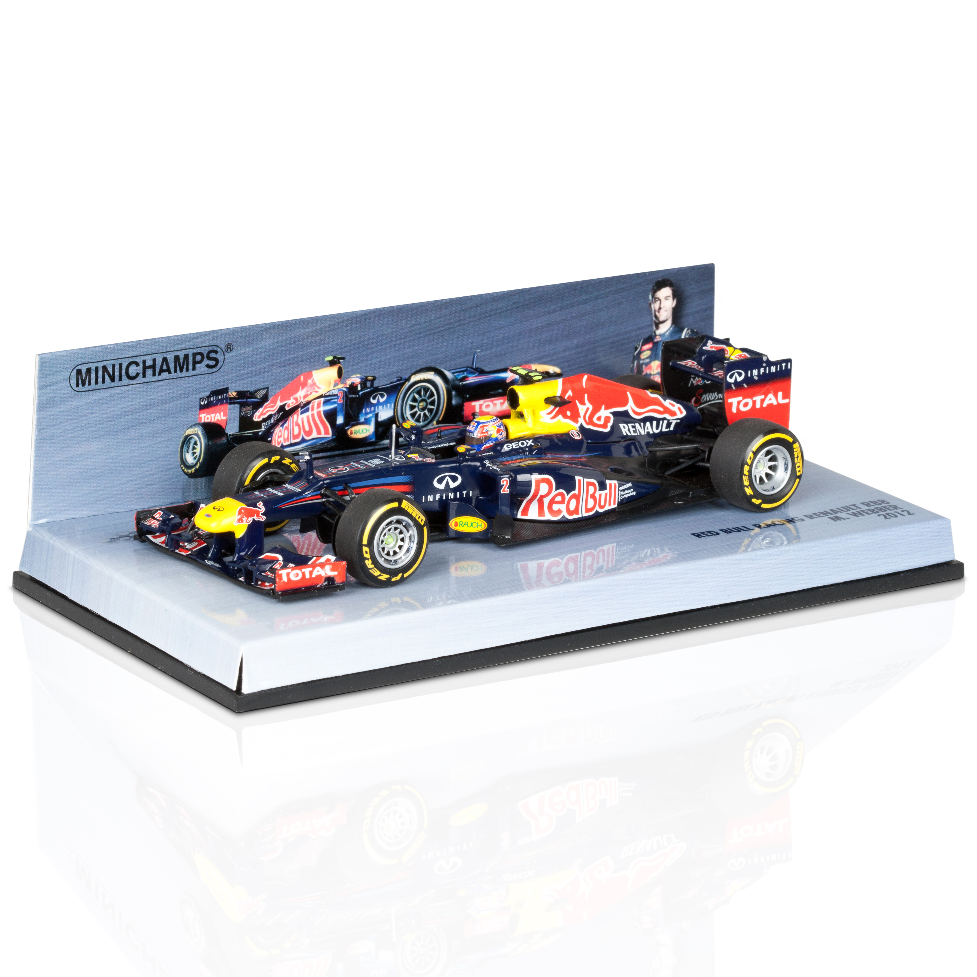 Red Bull Racing RB8 2012 Mark Webber 1:43 Scale