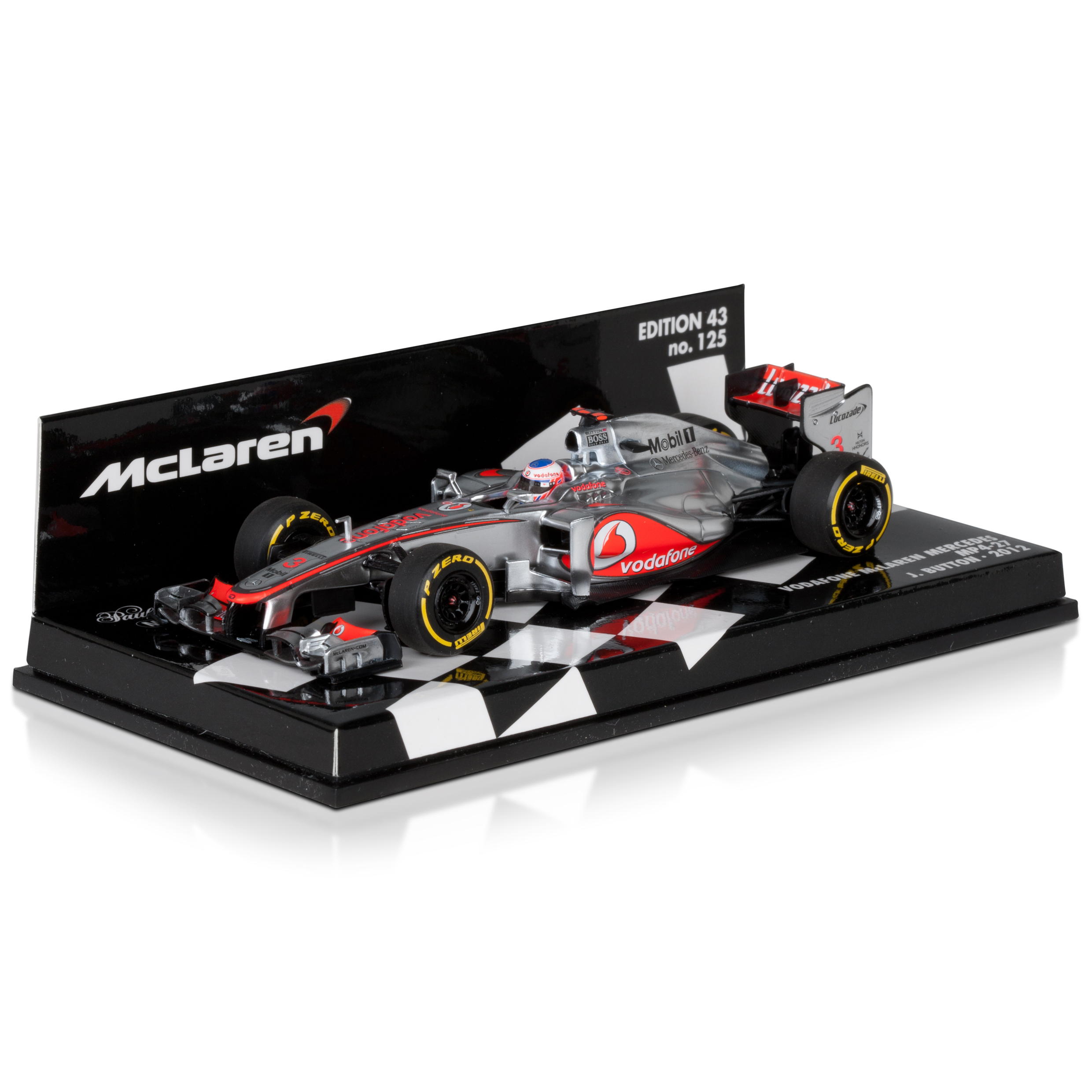 Vodafone McLaren Mercedes MP4-27 2012 Jenson Button 1:43 Scale