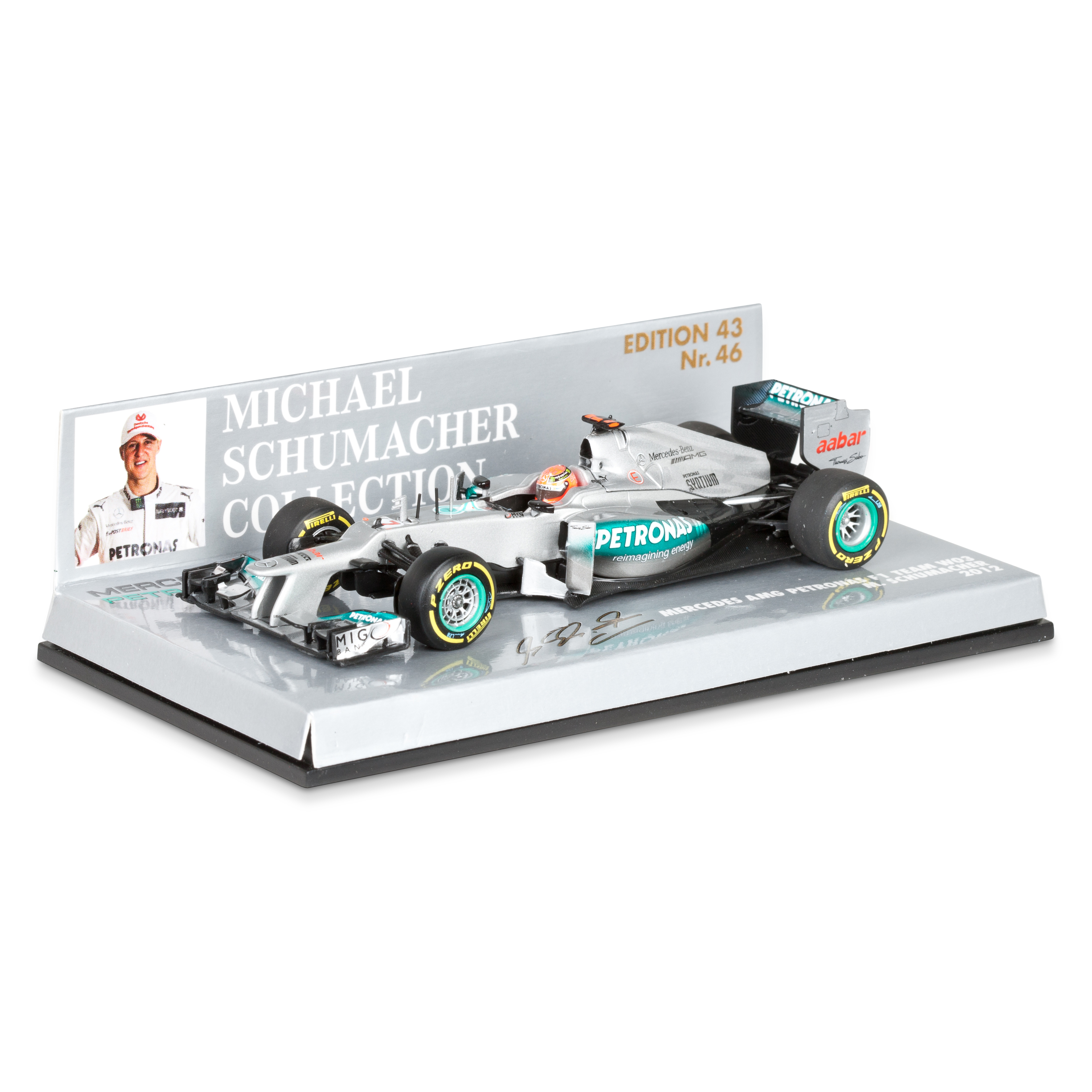 Mercedes AMG Petronas F1 Team W03 2012 Michael Schumacher 1:43 Scale