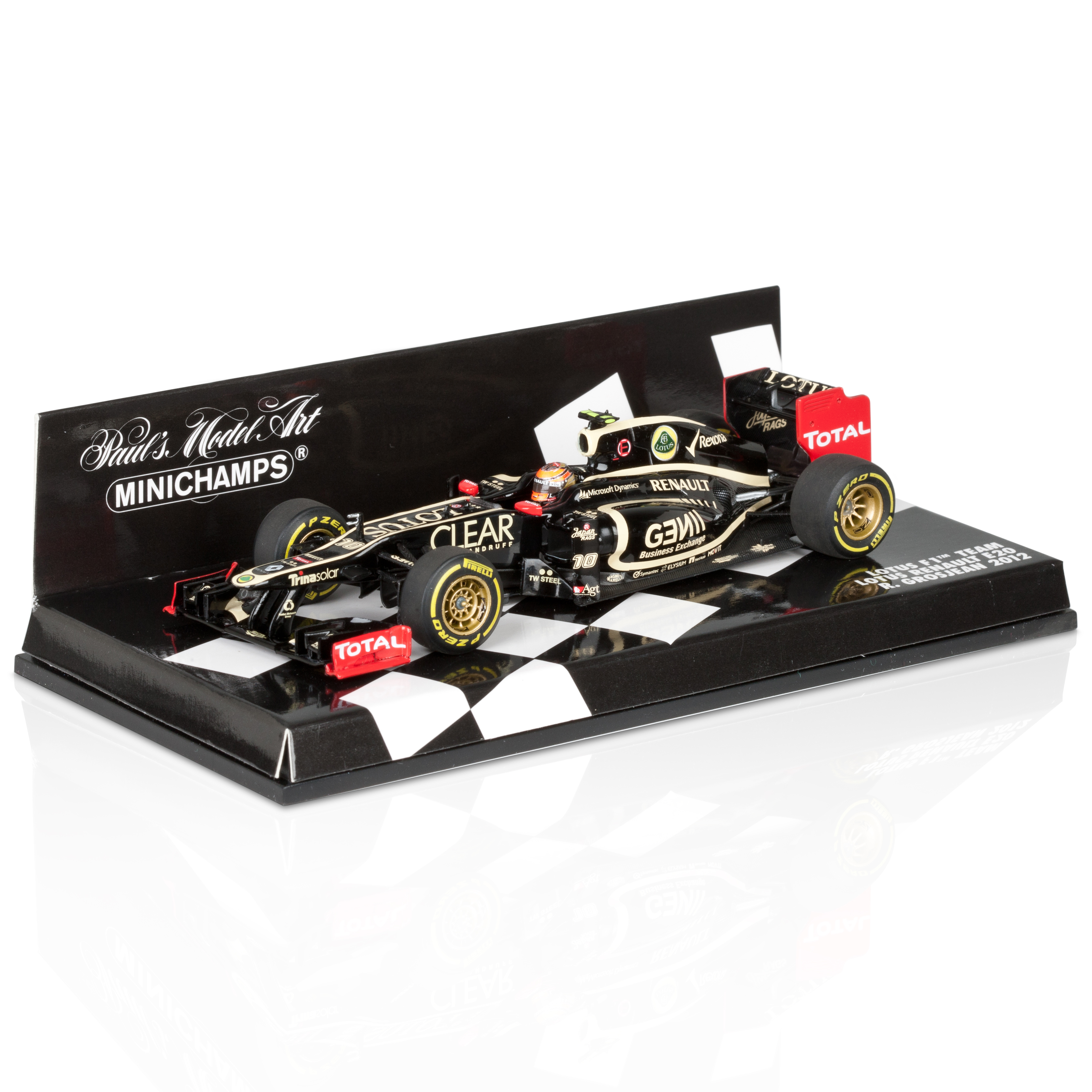 Lotus F1 Team Renault E20 2012 Romain Grosjean 1:43 Scale
