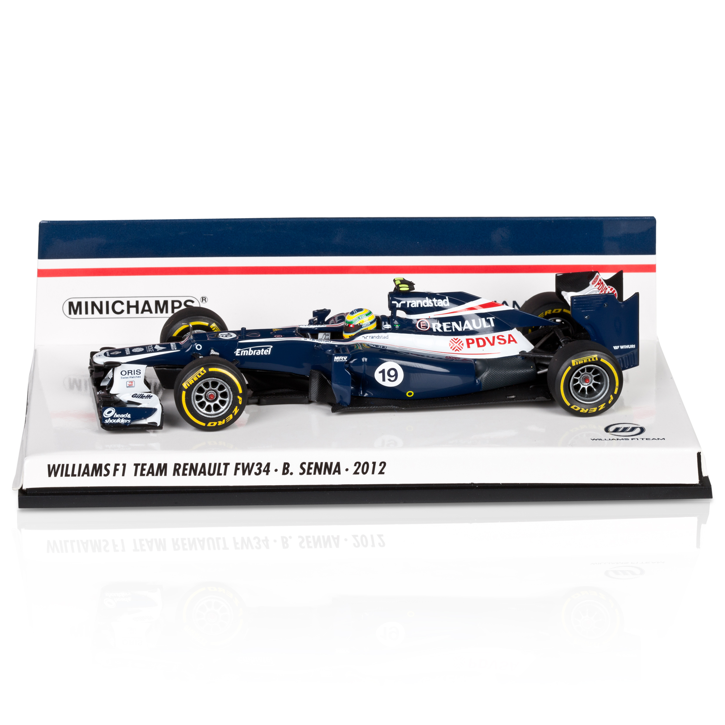 WILLIAMS F1 Team Renault FW34 2012 Bruno Senna 1:43 Scale
