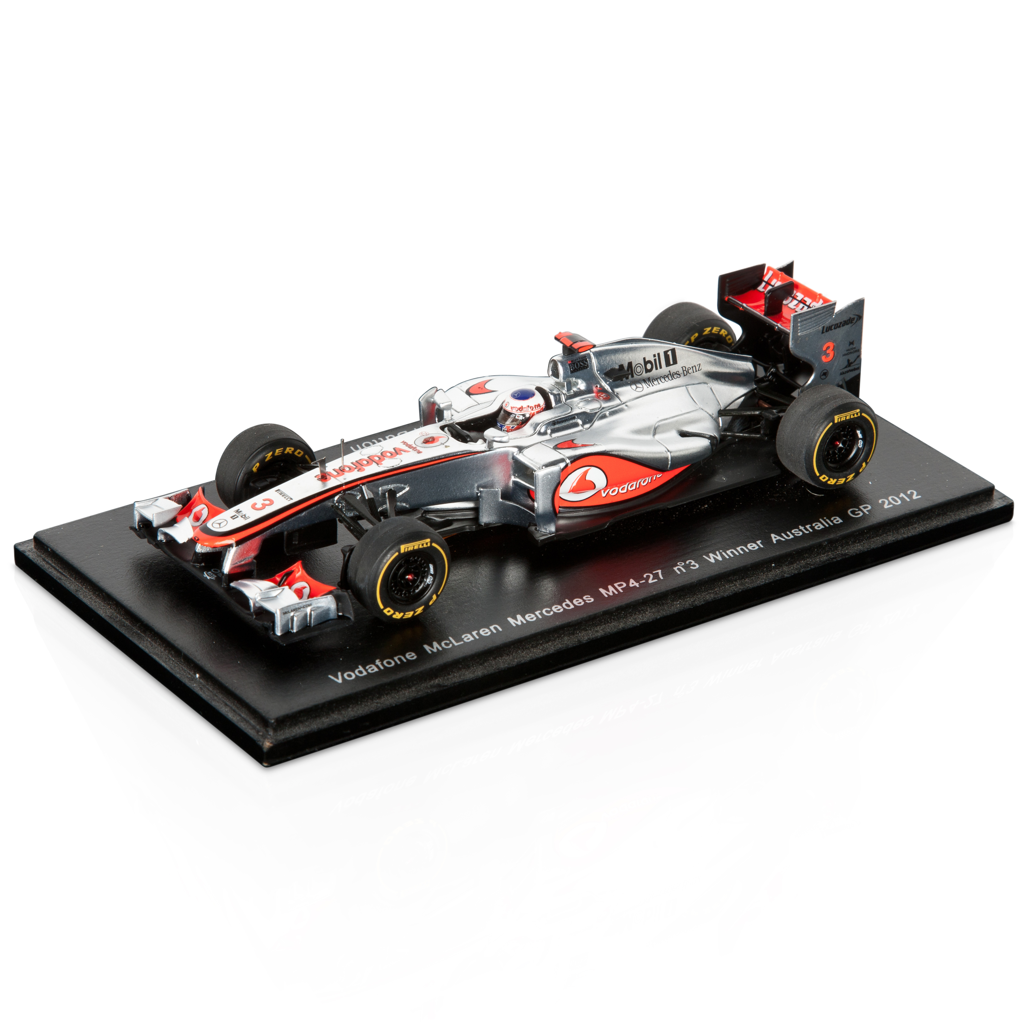Vodafone McLaren Mercedes Vodafone McLaren MP4-27 Jenson Button Winner Australian GP 2012 1:43 Scale