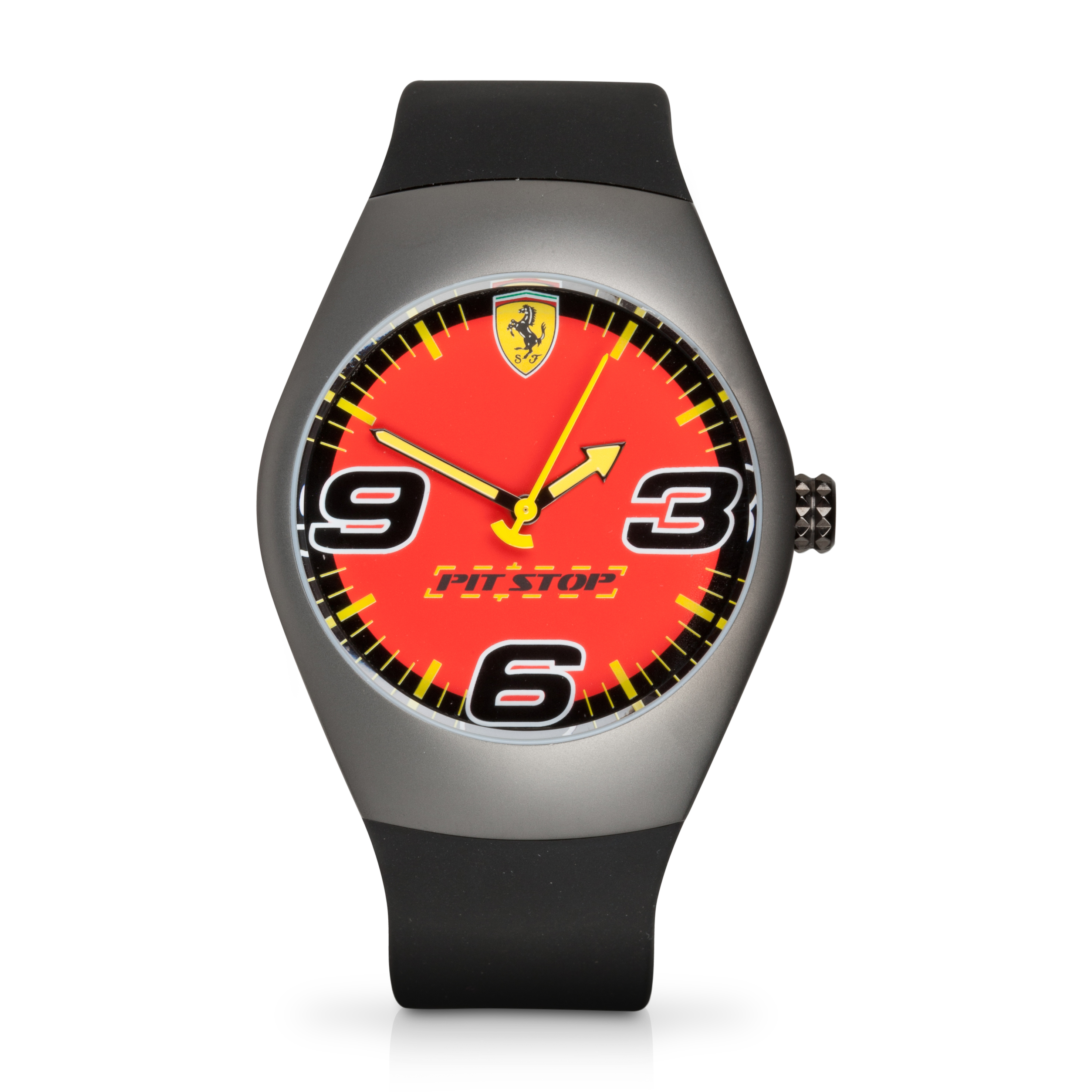 Ferrari Pit Stop Red Dial Watch - Black/Red