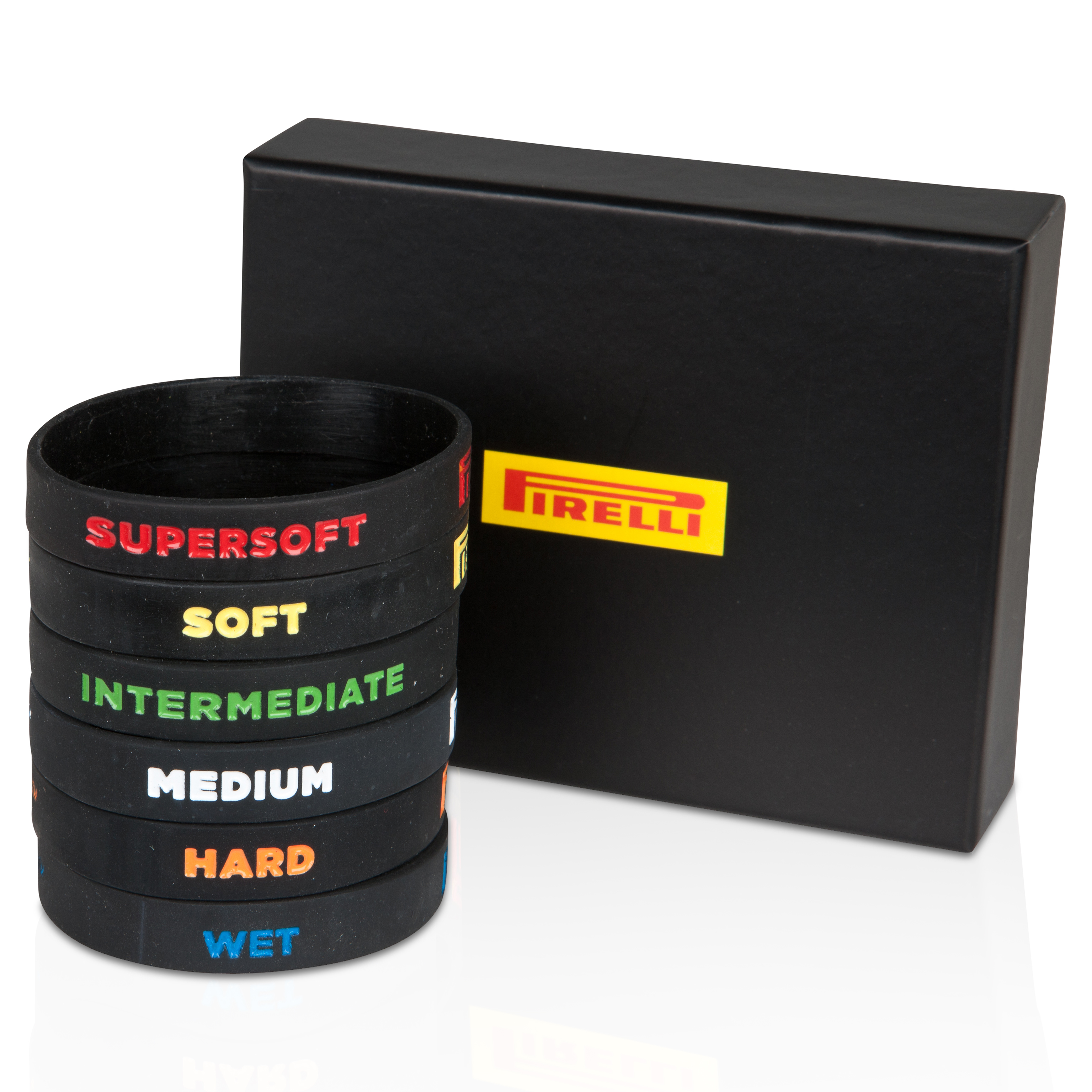 Pirelli Exclusive Rubber Wristband Set