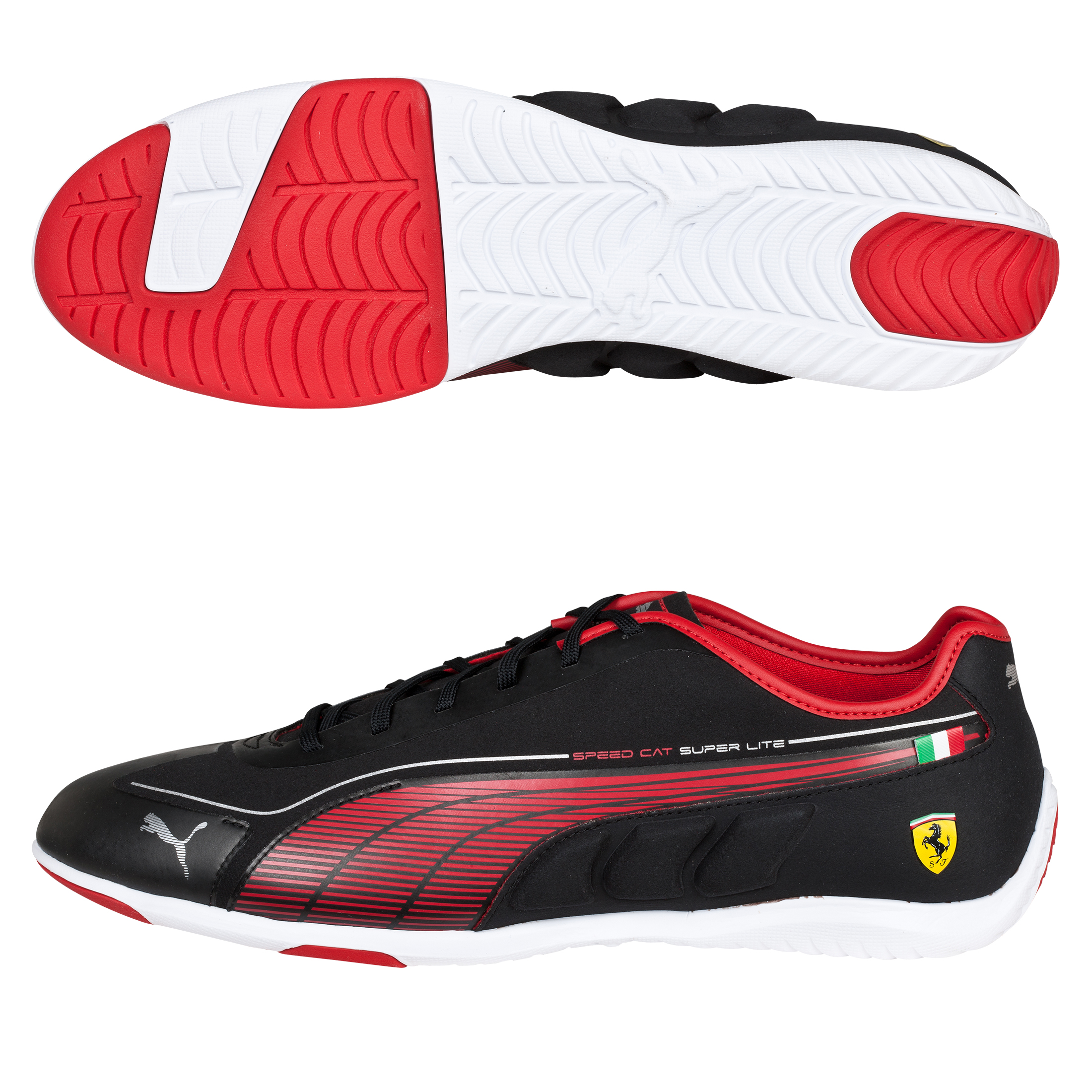 Scuderia Ferrari Speed Cat Super Lite Low Trainers - Black/Rosso Corsa